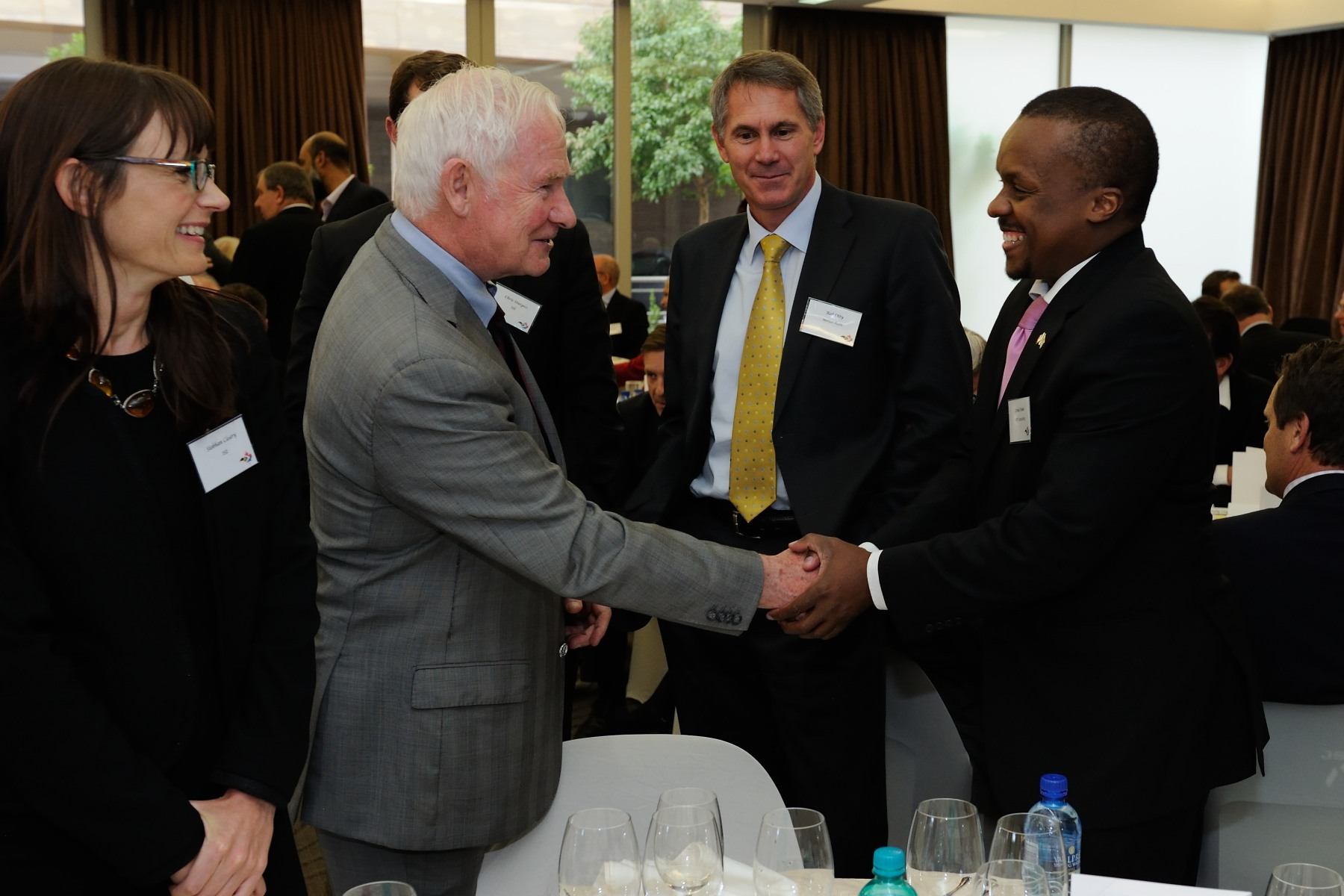 His Excellency talked with the Canada—South Africa Business Networking Luncheon participants.