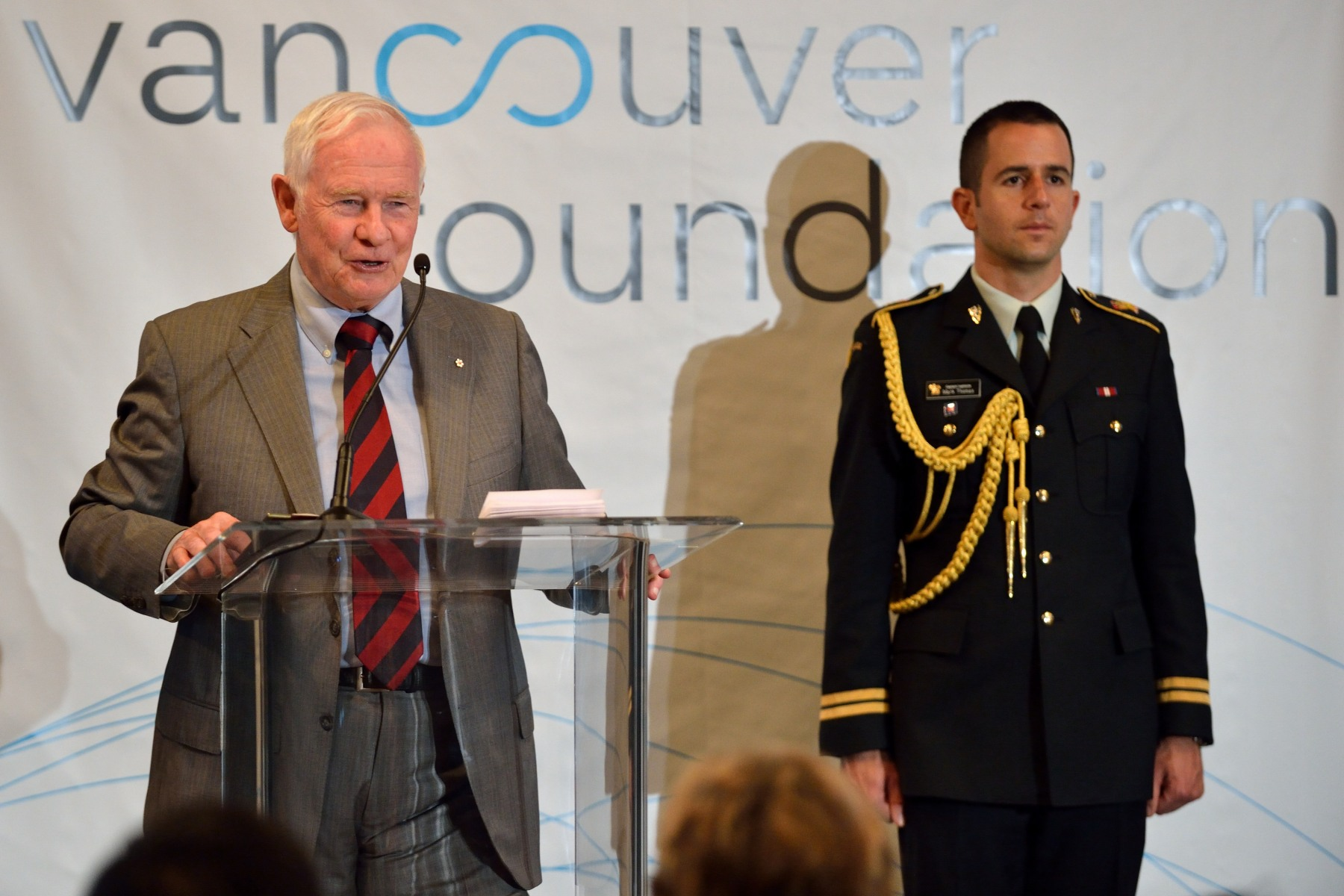 """It's right that we gather here, for no organization in this city, in this province better represents and strives to realize the principles of learning, support and fulfilment than the Vancouver Foundation,"" said His Excellency. ""You are a forum for bright minds and eager learners to connect; a vehicle through which volunteers and philanthropists express their intelligence and desire to support others; a helping hand that supplies comfort, encouragement and opportunity to children and families."""