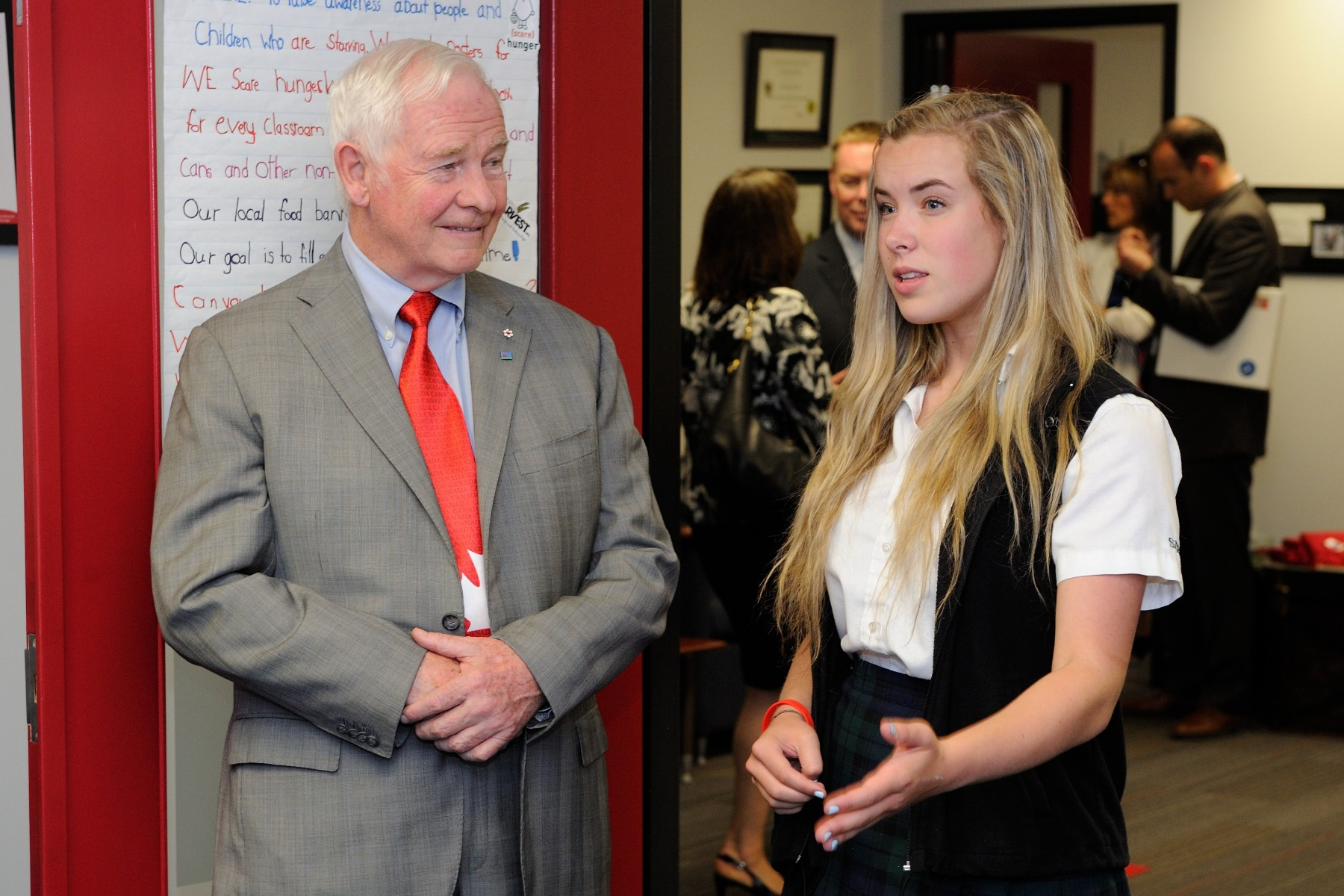 Later on, His Excellency visited the office of The Ladybug Foundation and met with its founder, Miss Hannah Taylor.