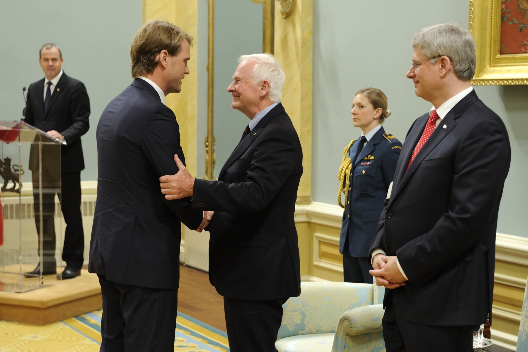 All were congratulated by both His Excellency the Right Honourable David Johnston, Governor General of Canada, and the Right Honourable Stephen Harper, Prime Minister of Canada.