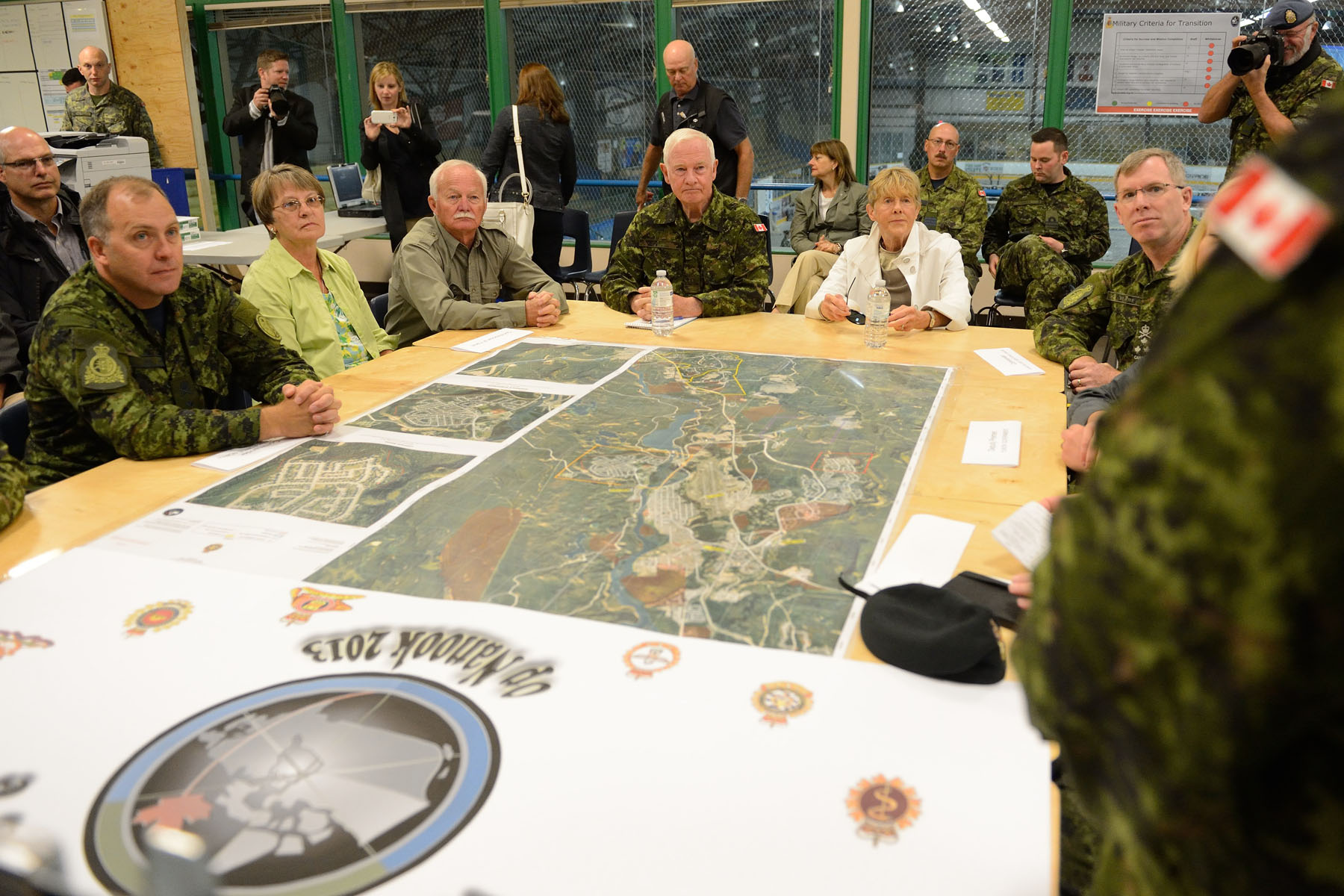 Their Excellencies attended a briefing about this year's military exercise which will take place in four distinct geographical locations: Whitehorse,