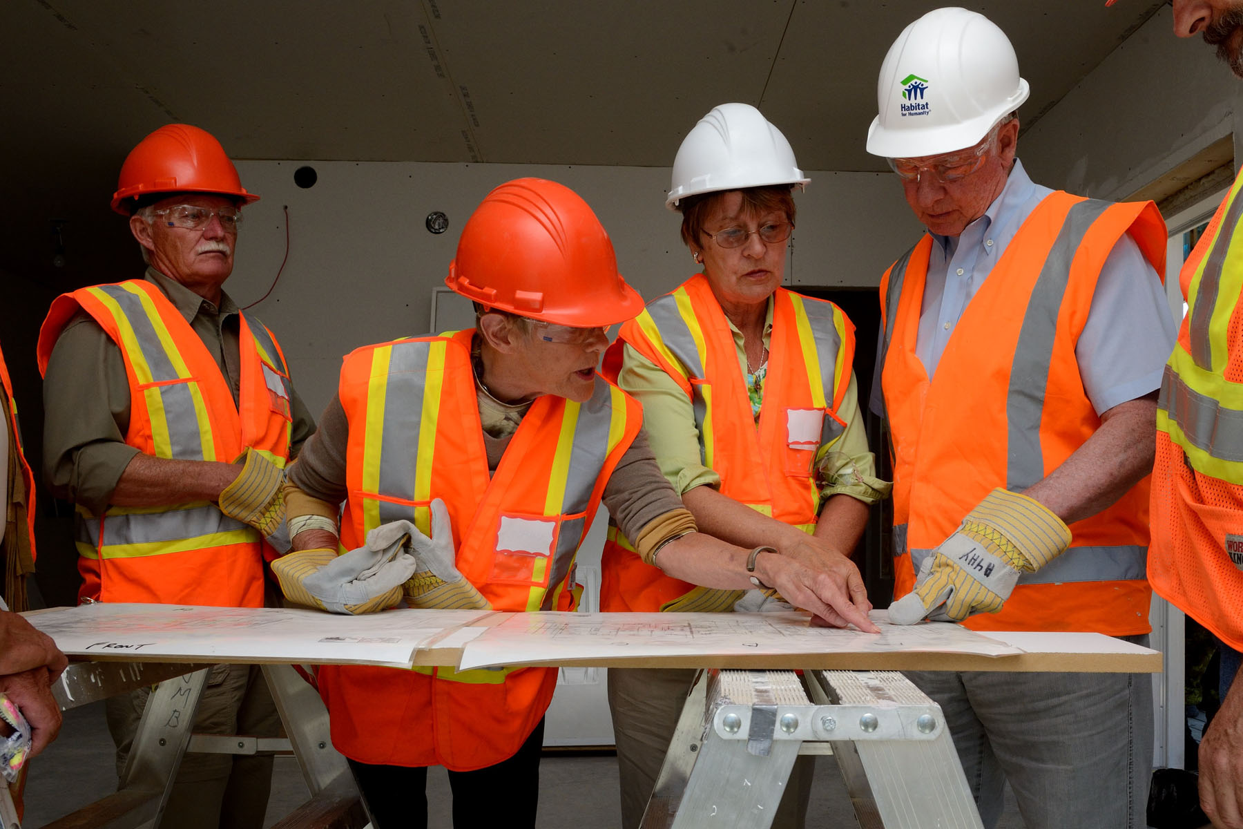 Their Excellencies later visited the first Habitat for Humanity build on First Nation settlement land in Canada.