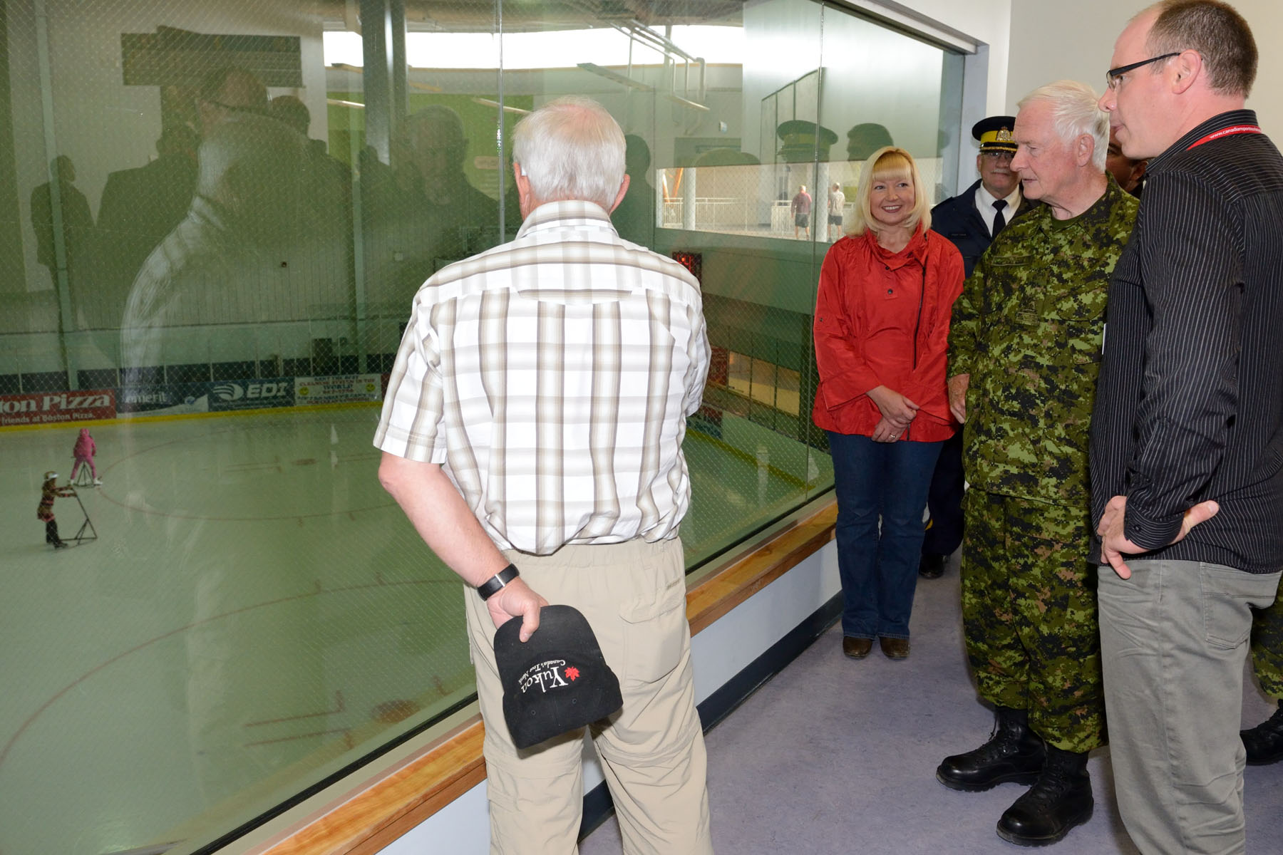 The Governor General also toured a mobile medical unit situated at the Canada Games Centre.