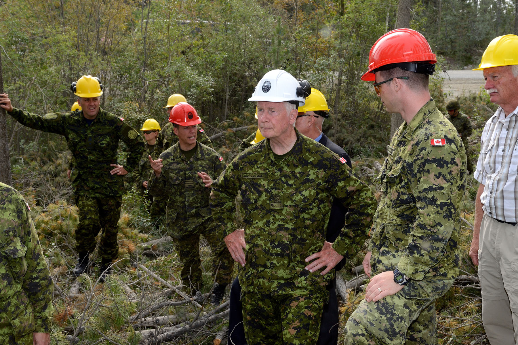 The Governor General then travelled to Copper Ridge to observe sprinkler line operations.