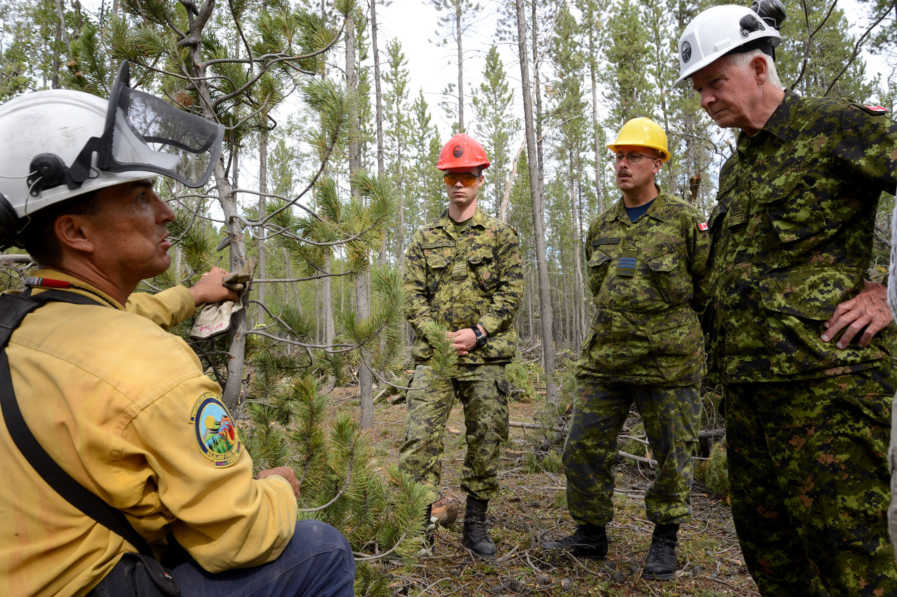 At McLean Lake Road, the Governor General viewed fuel break operations.