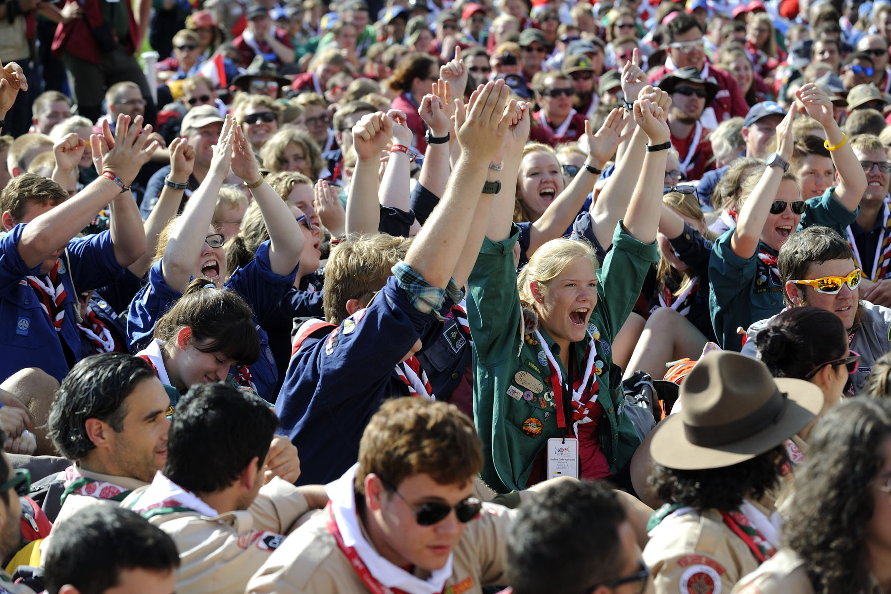 More than 2 000 scouts representing 80 countries attended the event.