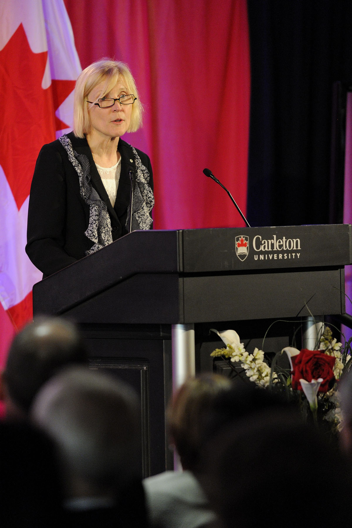 Ms. Roseann O'Reilly Runte, Carleton University President, welcomed everyone to the event.