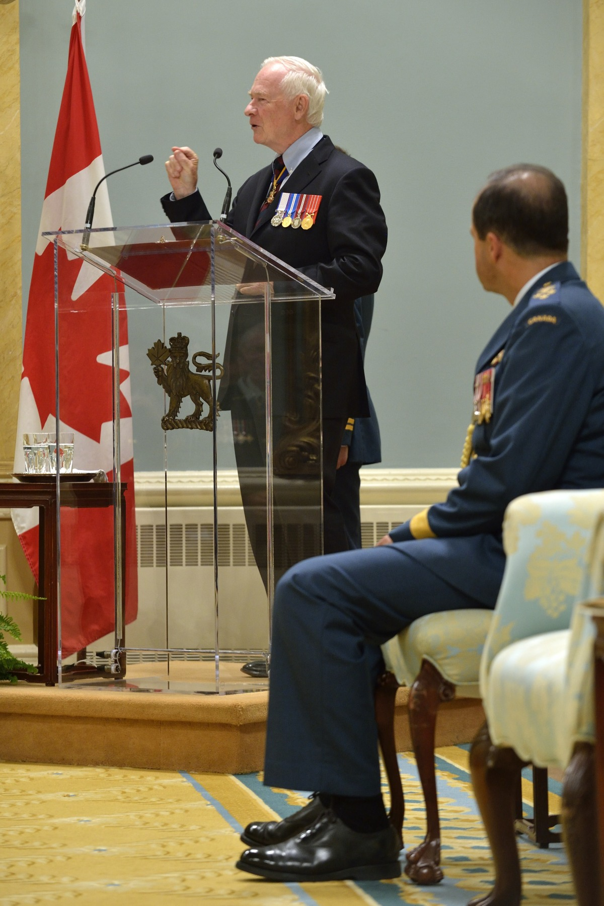 """I am proud to call myself commander-in-chief, but I find it an even greater honour when I am so named by a member of our Canadian Armed Forces,"" said His Excellency. ""That is because without you, without what you do for our country, day in and day out, there would be no commander-in-chief. And without you and what you have done throughout our history, our very country would not look the same."""