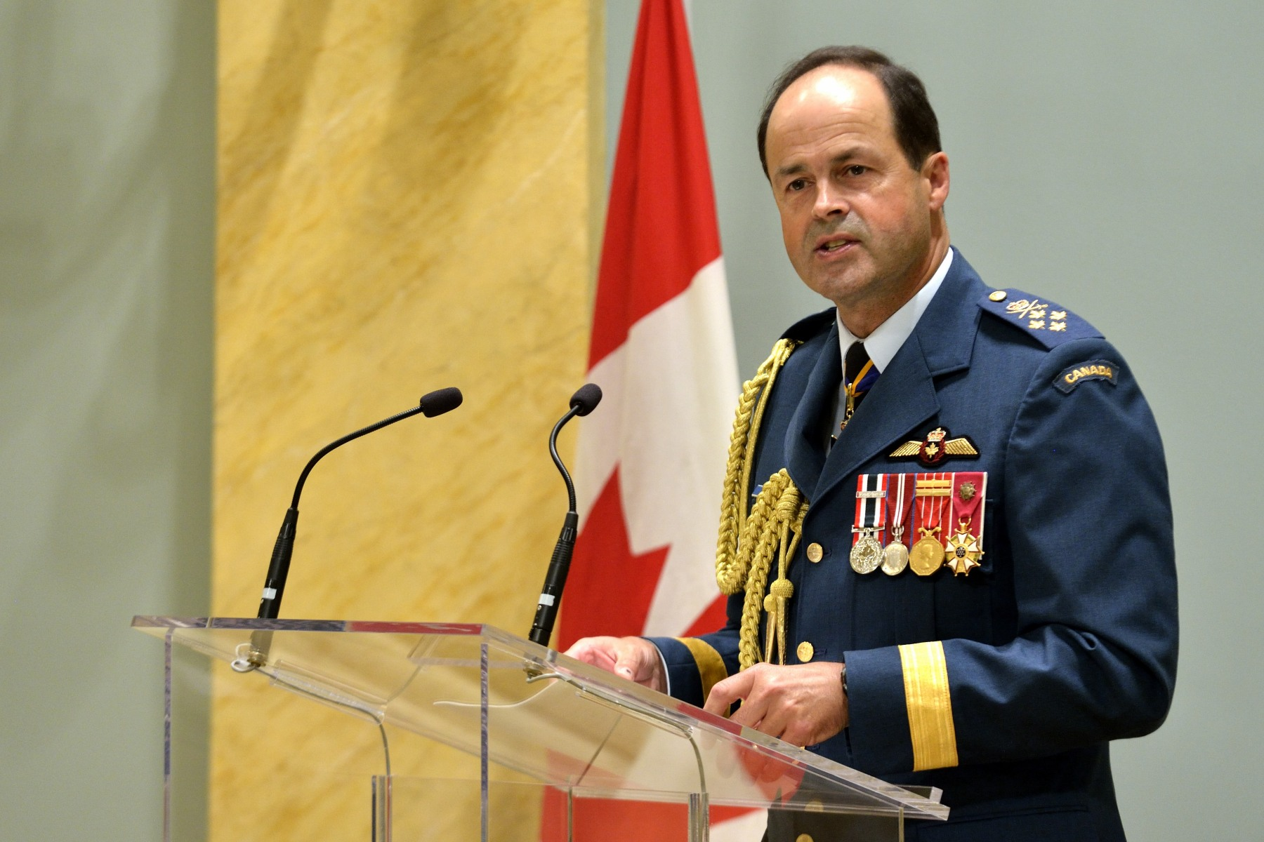 General Thomas Lawson, Chief of the Defence Staff, also spoke during this ceremony.
