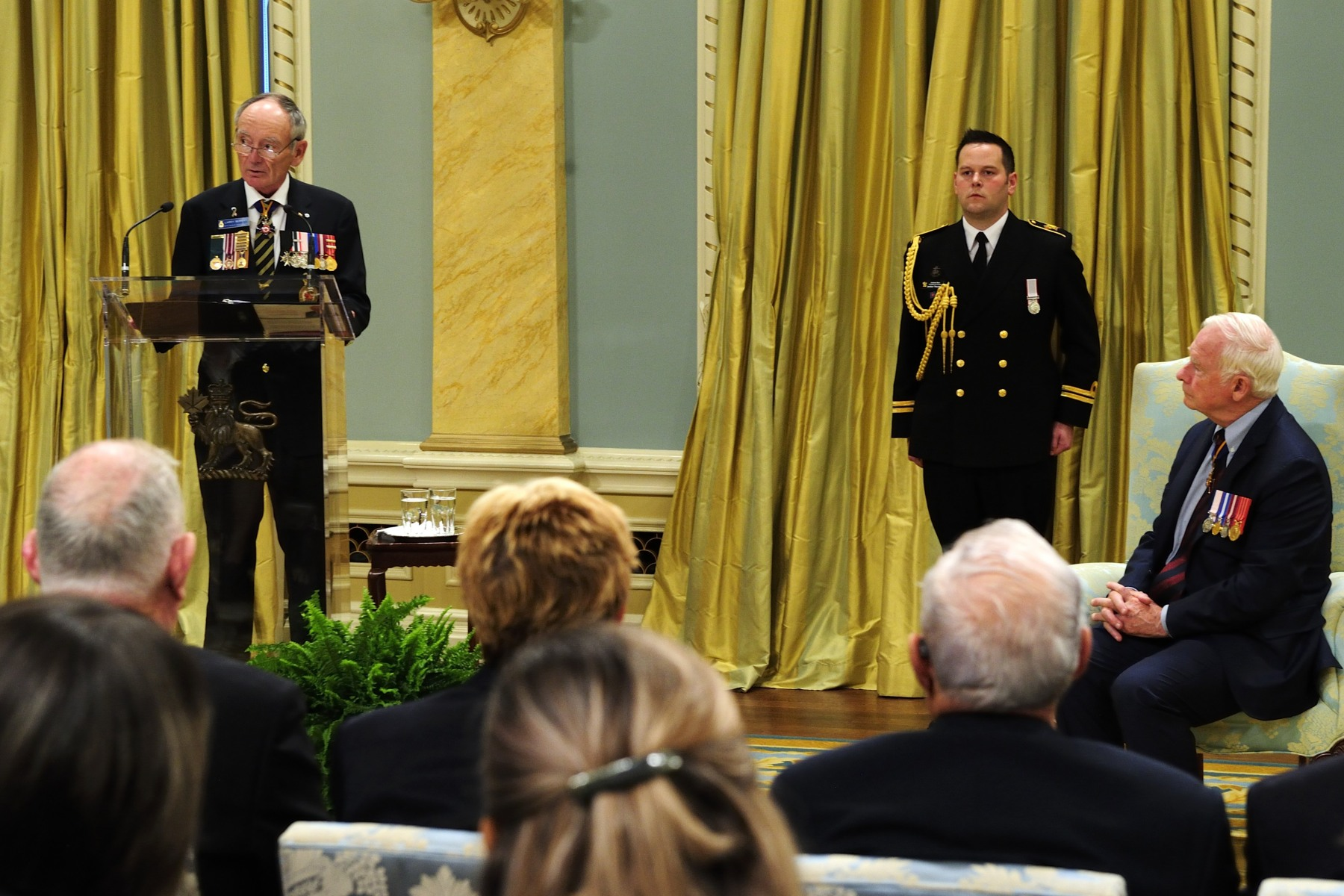 Vice-Admiral (Ret'd) Larry Murray, The Royal Canadian Legion's Grand President also delivered an address on this occasion.