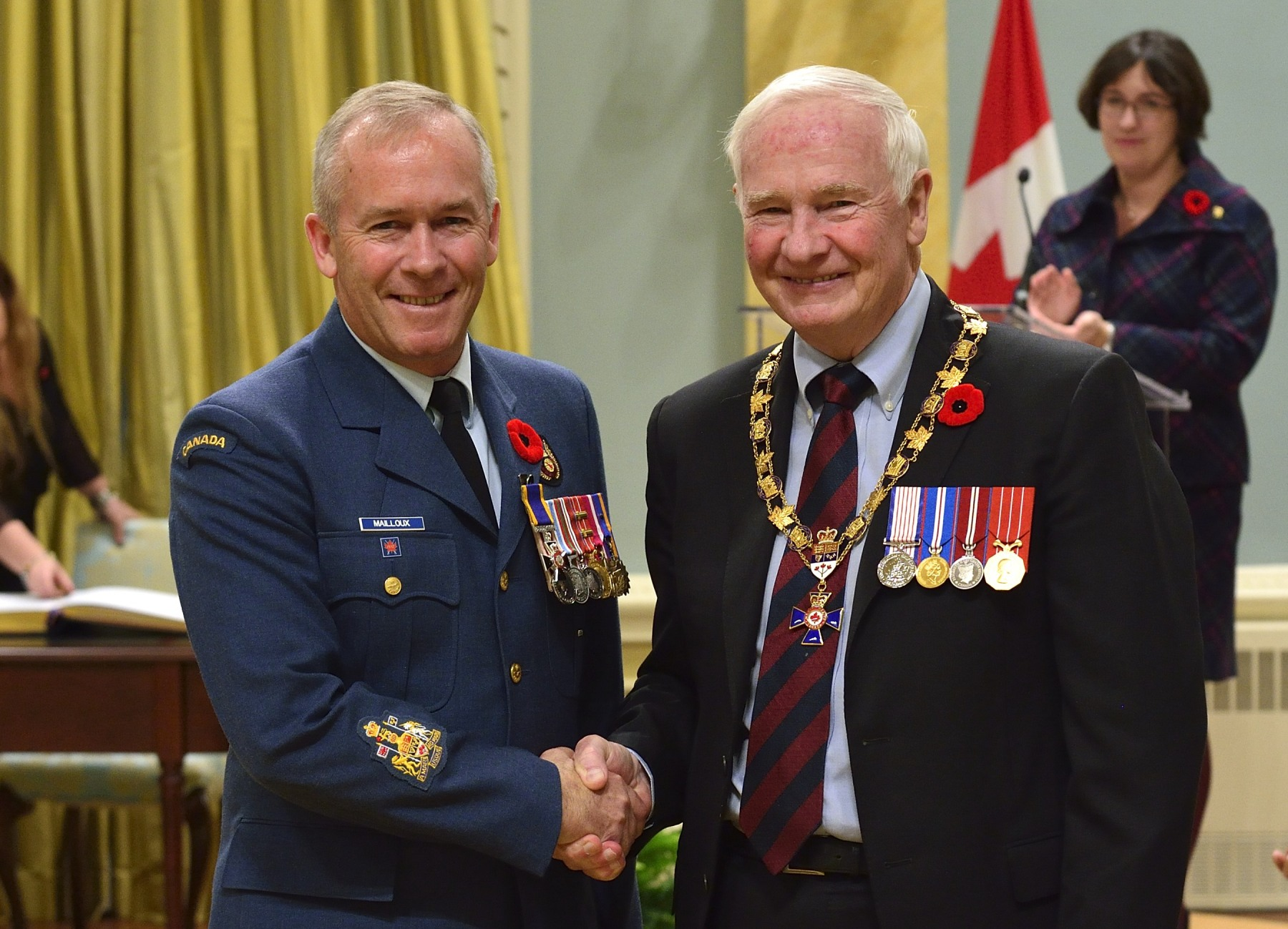 His Excellency presented the Order of Military Merit at the Member level (M.M.M.) to Chief Warrant Officer Denis Mailloux, M.M.M., C.D., North American Aerospace Defence Command Outside Canada, Colorado Springs, CO, U.S.A.