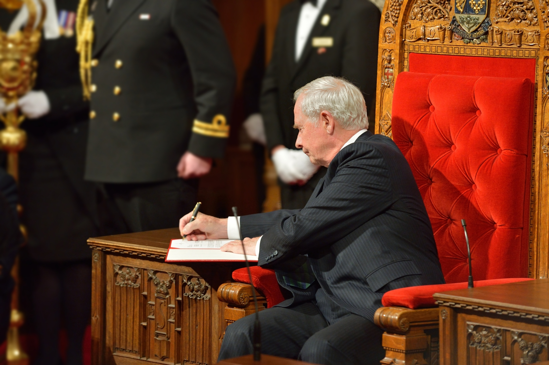 Granting Royal Assent is part of the governor general's constitutional duties.