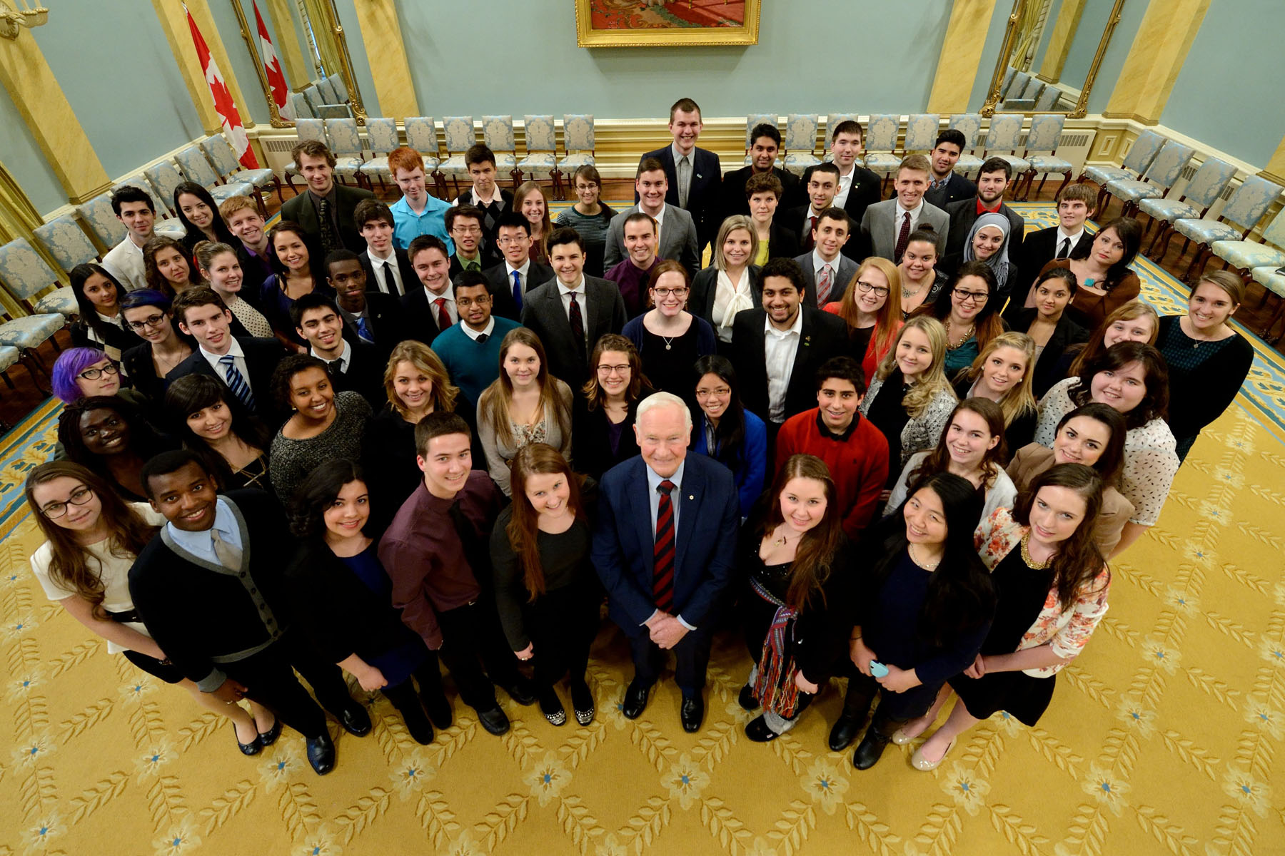 75 youth from the National Capital Region attended the event at Rideau Hall.