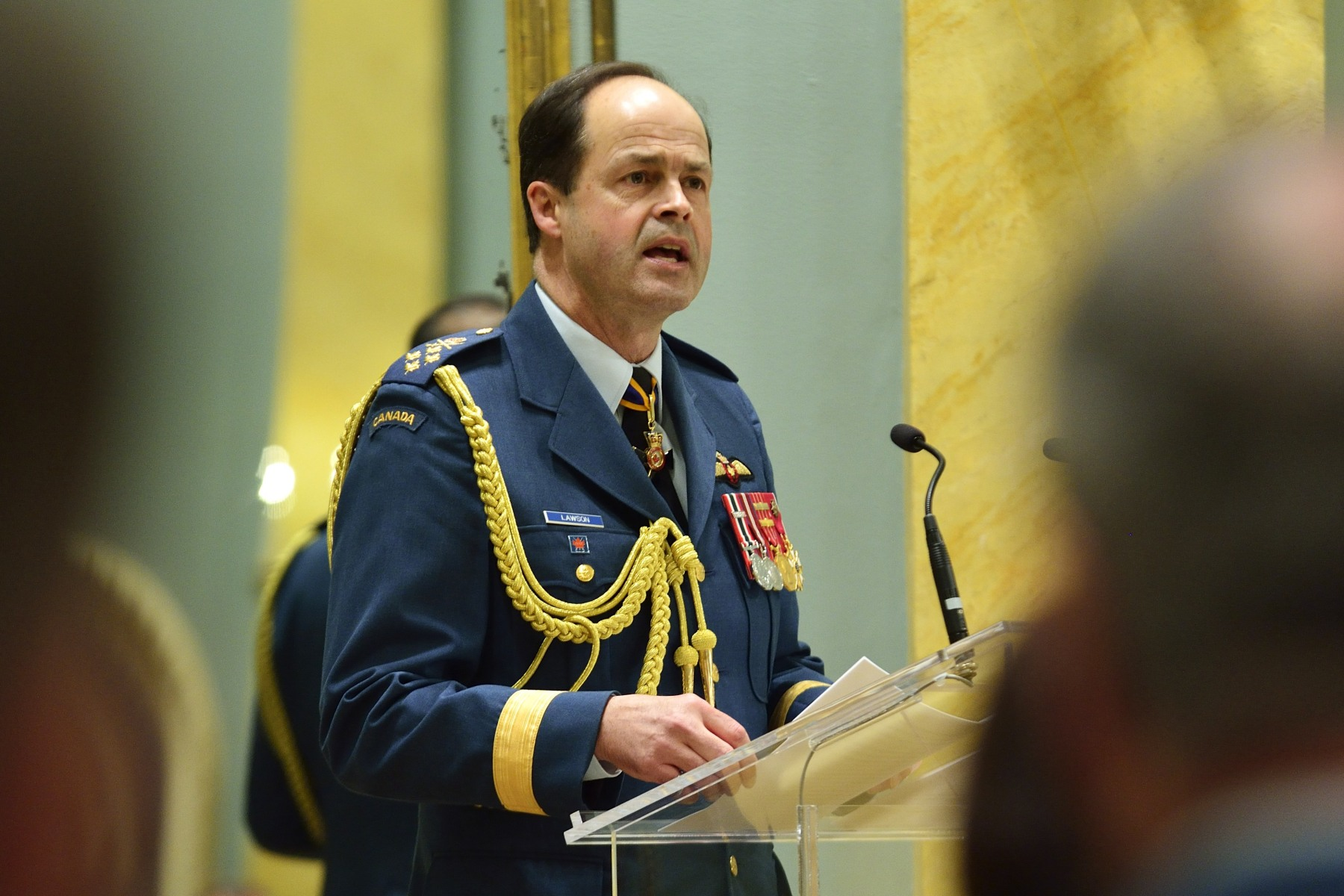 General Thomas J. Lawson, Chief of the Defence Staff, also spoke during this ceremony.