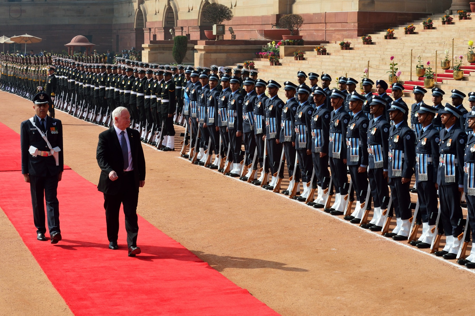 During the ceremony, the Governor General received a 21-gun salute and inspected the guard of honour.