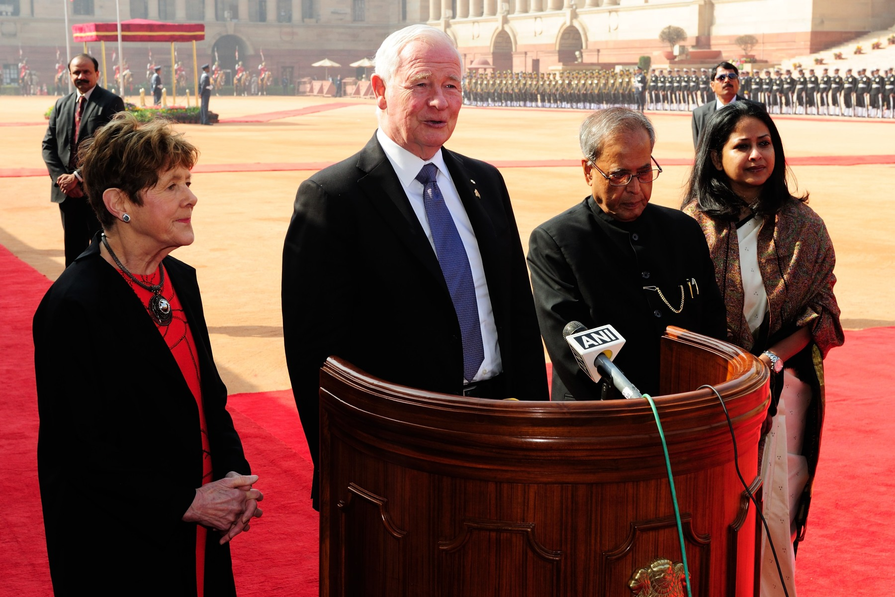 At the end of the ceremony, the Governor General answered a question from the media.