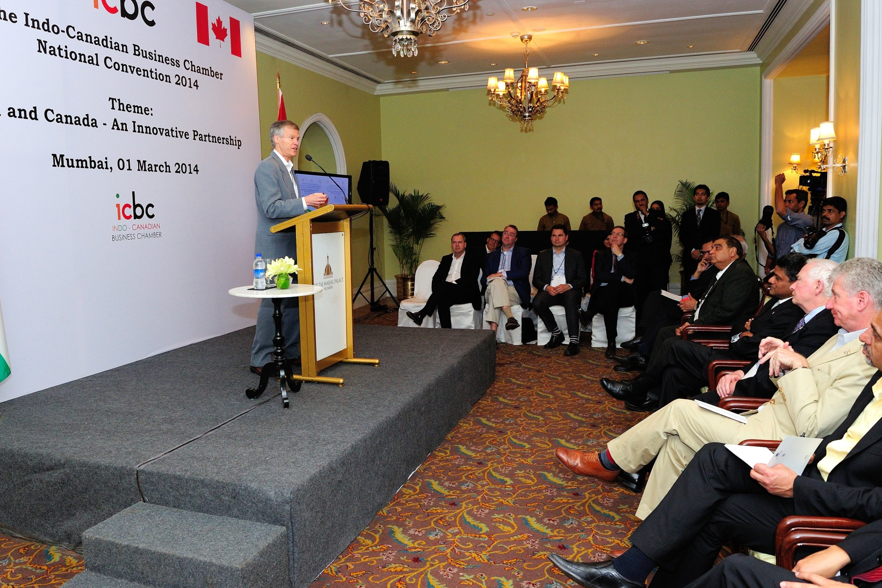 Later in the afternoon, the Governor General attended the Indo-Canadian Business Chamber (ICBC) Annual Convention. The ICBC promotes linkages with Canada across sectors and organizes monthly events to raise awareness of Canadian opportunities, innovation, companies and more. This is India's only Canada-focused business group, with a membership of over 100 corporate members across country in its four regional chapters.