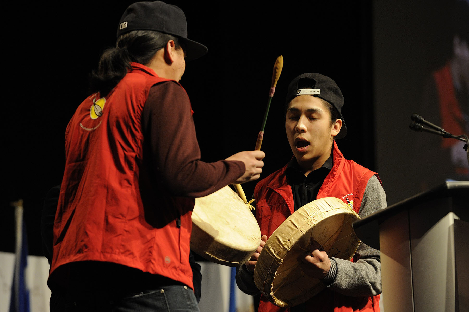 A healing song was performed by Aboriginal youth.