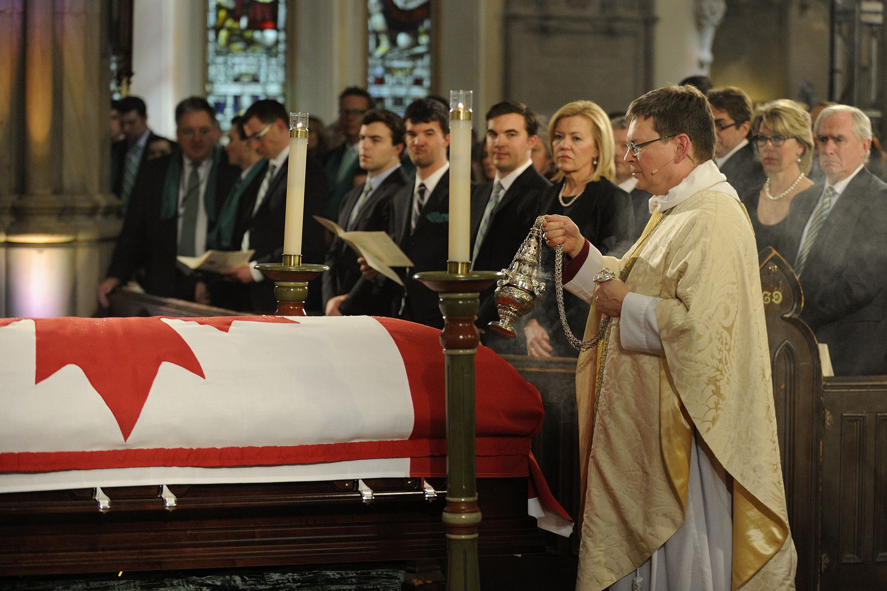 The ceremony took place at St. James Cathedral, in Toronto.