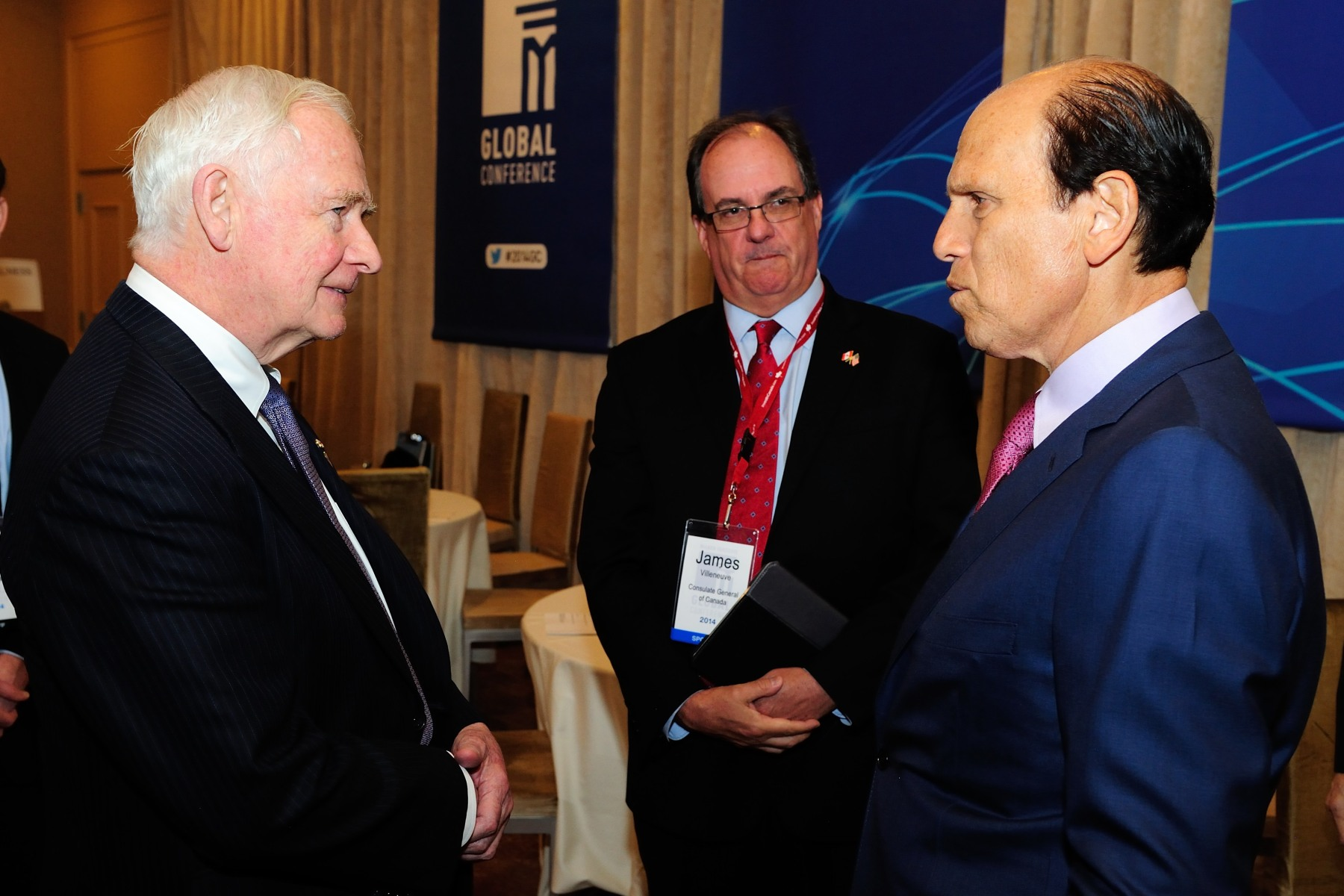 He will also meet with key American business leaders such as Michael Milken, Chairman of the Milken Institute.
