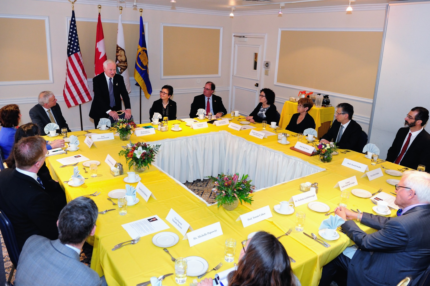 A discussion on innovation and the partnership between UCLA and Canada followed and was moderated by Mrs. Fan,Vice-Provost for International Studies. Established in 2001, the Canadian Studies Program at UCLA fosters a better understanding of Canadian society and its relationship with the United States. Through its teaching, research and public lecture series, the program facilitates awareness of issues of mutual concern to the two countries among students, faculty and the public at large.