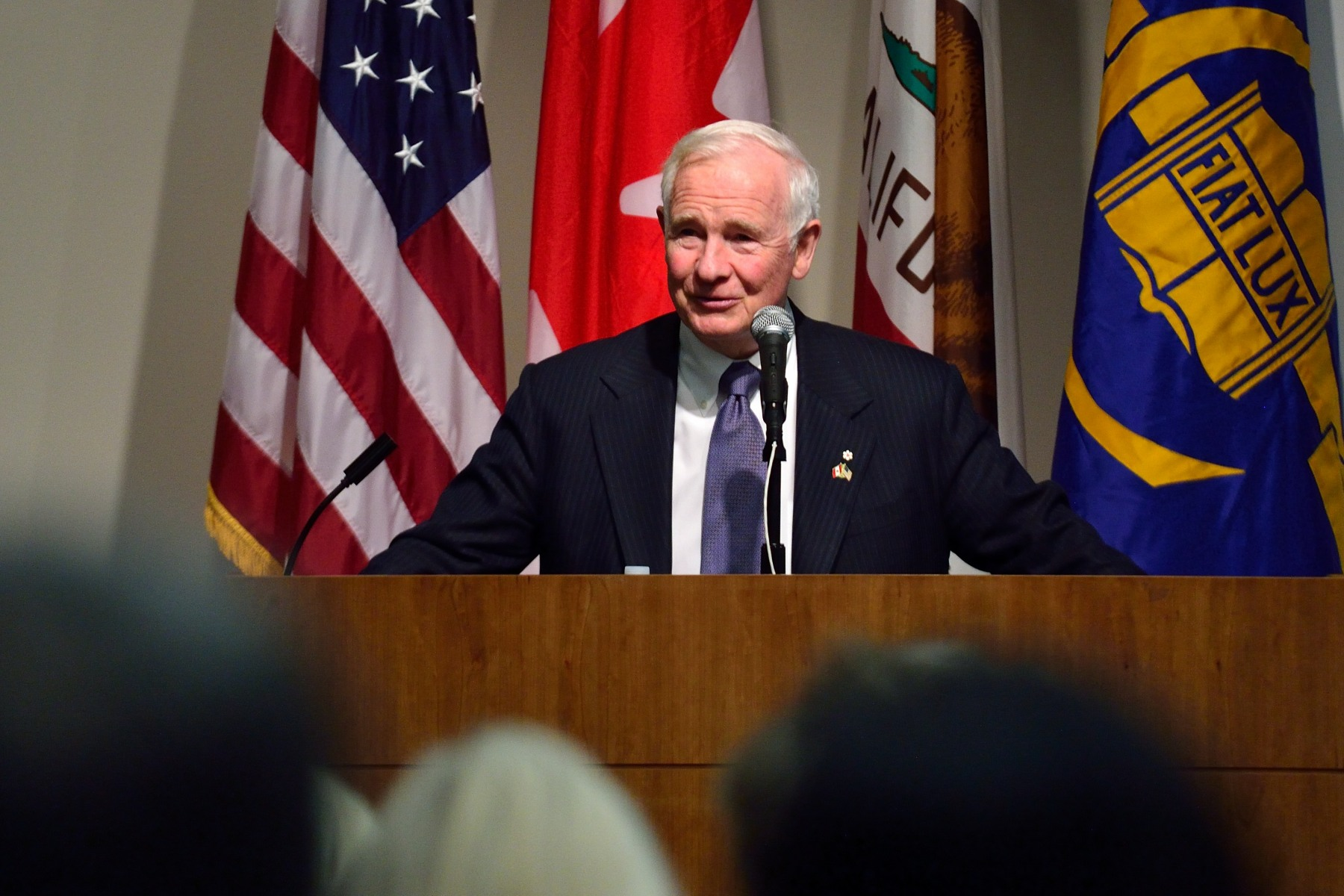 "The Governor General spoke on The Diplomacy of Knowledge: Innovation Exchange Across Bordersto UCLA officials, faculty and students. ""An inclusive approach to learning and innovation is essential to a successful society. Canadians by and large welcome the world to Canada, and we are eager to learn from others—including from great American institutions such as UCLA."""