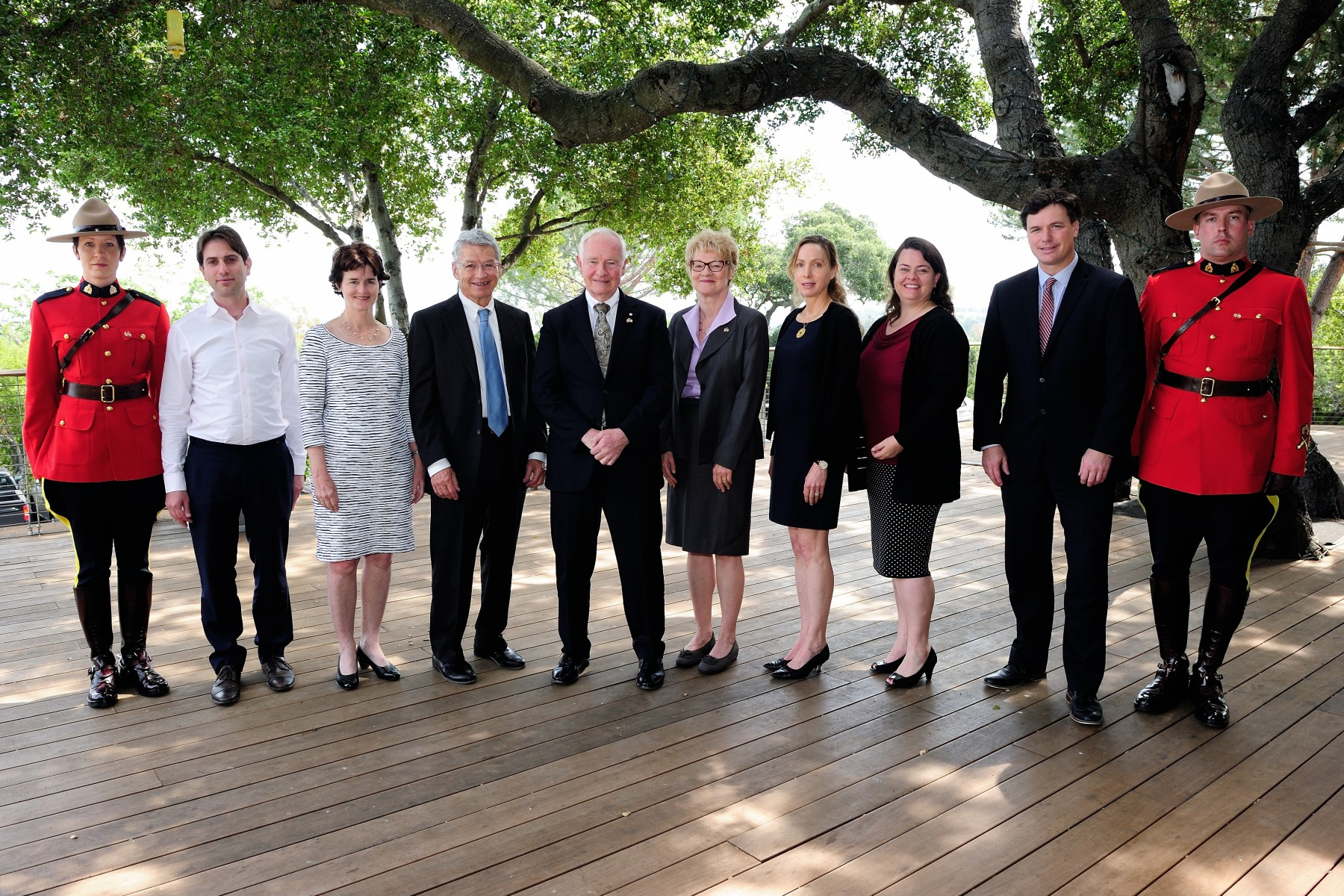 Photo of His Excellency with members of Stanford PACS and other American organizations.