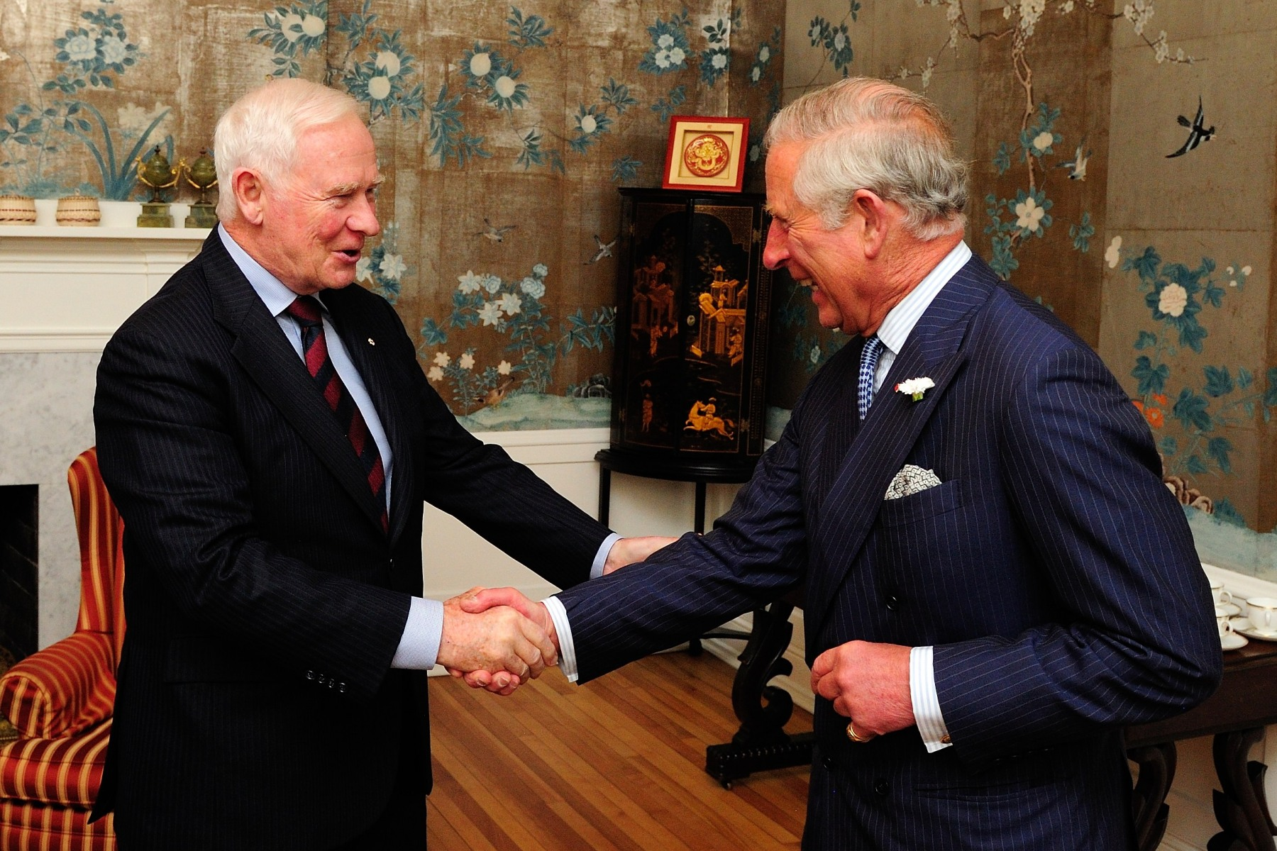 On the evening of May 18, 2014, the Governor General had the chance to meet with His Royal Highness The Prince of Wales at Government House, in Halifax.