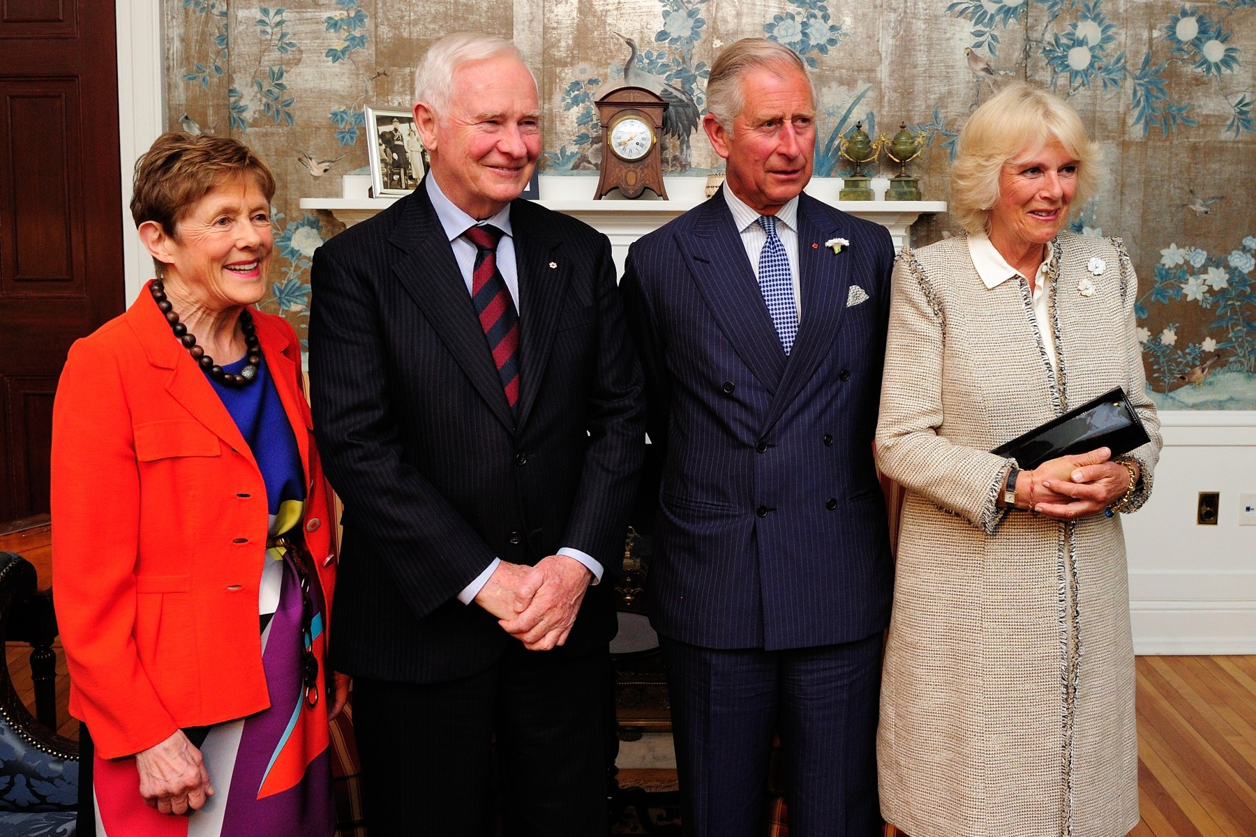 Their Excellencies and Their Royal Highnesses The Prince of Wales and The Duchess of Cornwall paused for a group photo.