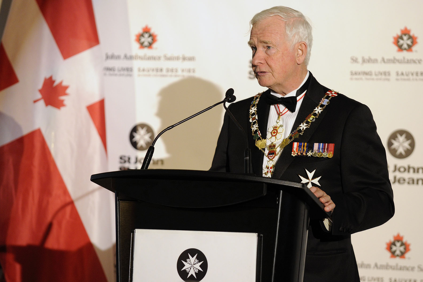 As Prior of the Priory of Canada, the Governor General then delivered an address which highlighted the important contributions, past and present, made by supporters of the Order of St. John and St. John Ambulance in Canada and around the world.