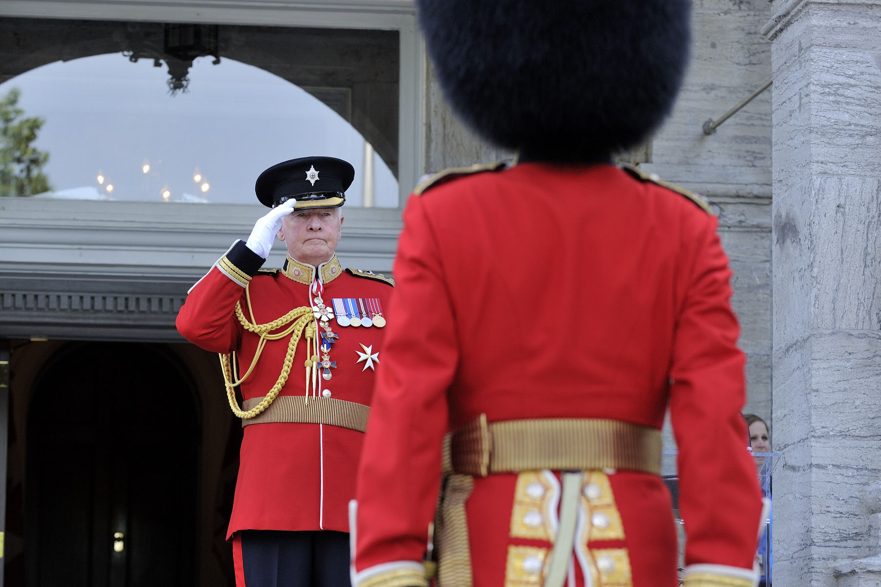 Visitors were able to witness the pageantry, precision and colour of the Ceremonial Guard.