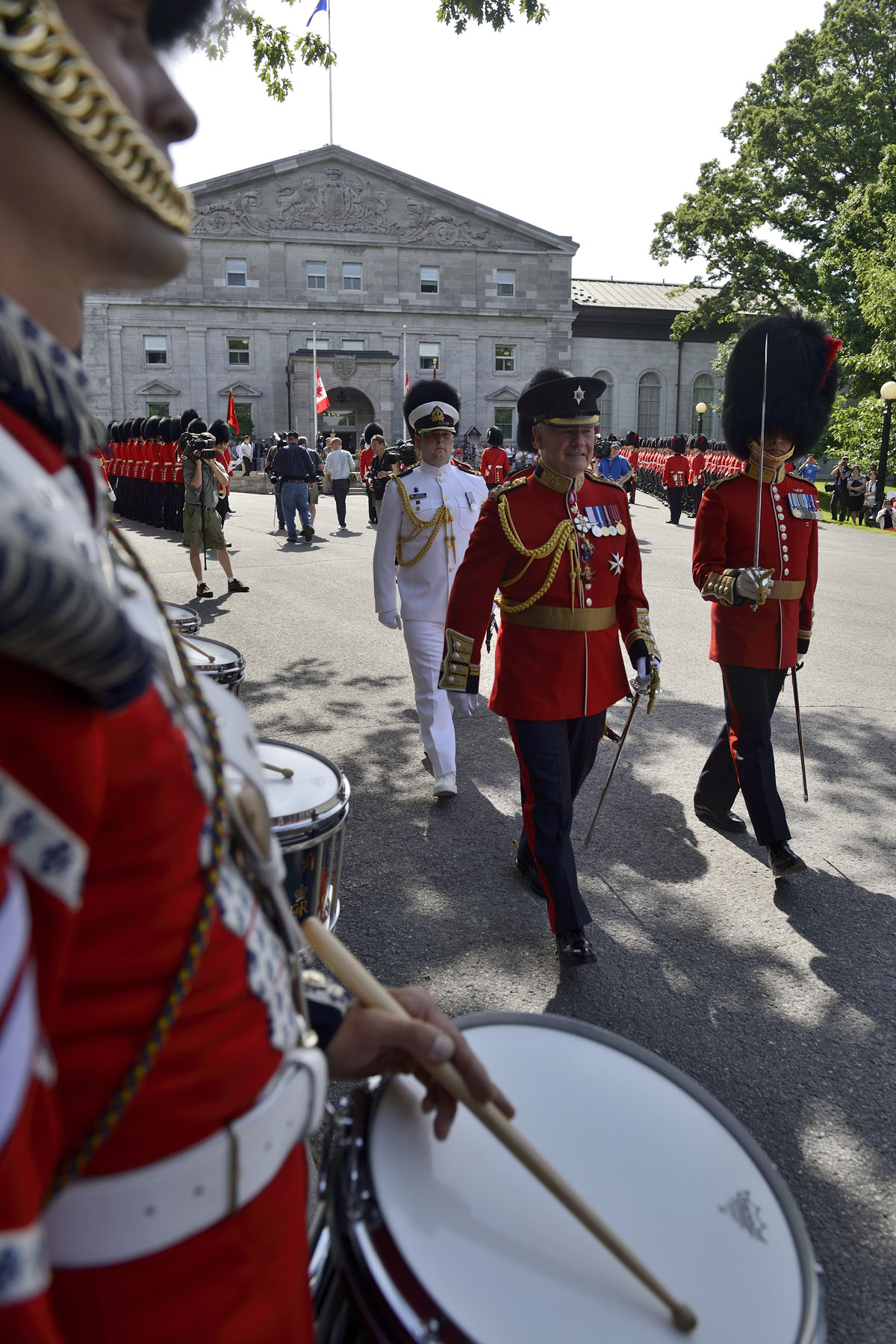 The Band of the Ceremonial Guard is the largest in the Canadian Armed Forces; outside of public duties, they perform in public concerts and at military functions and other ceremonies throughout the National Capital Region.