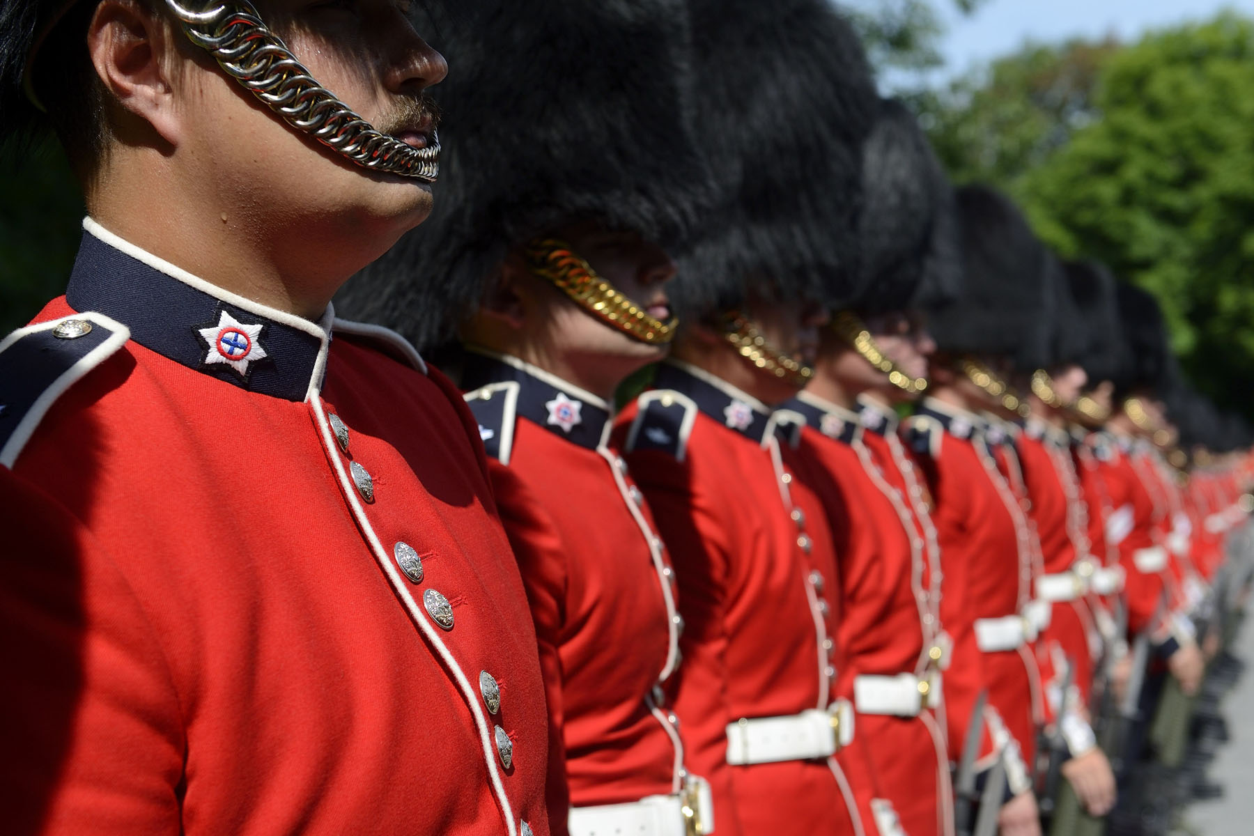 When required, the Ceremonial Guard mounts guards of honour for visiting dignitaries.