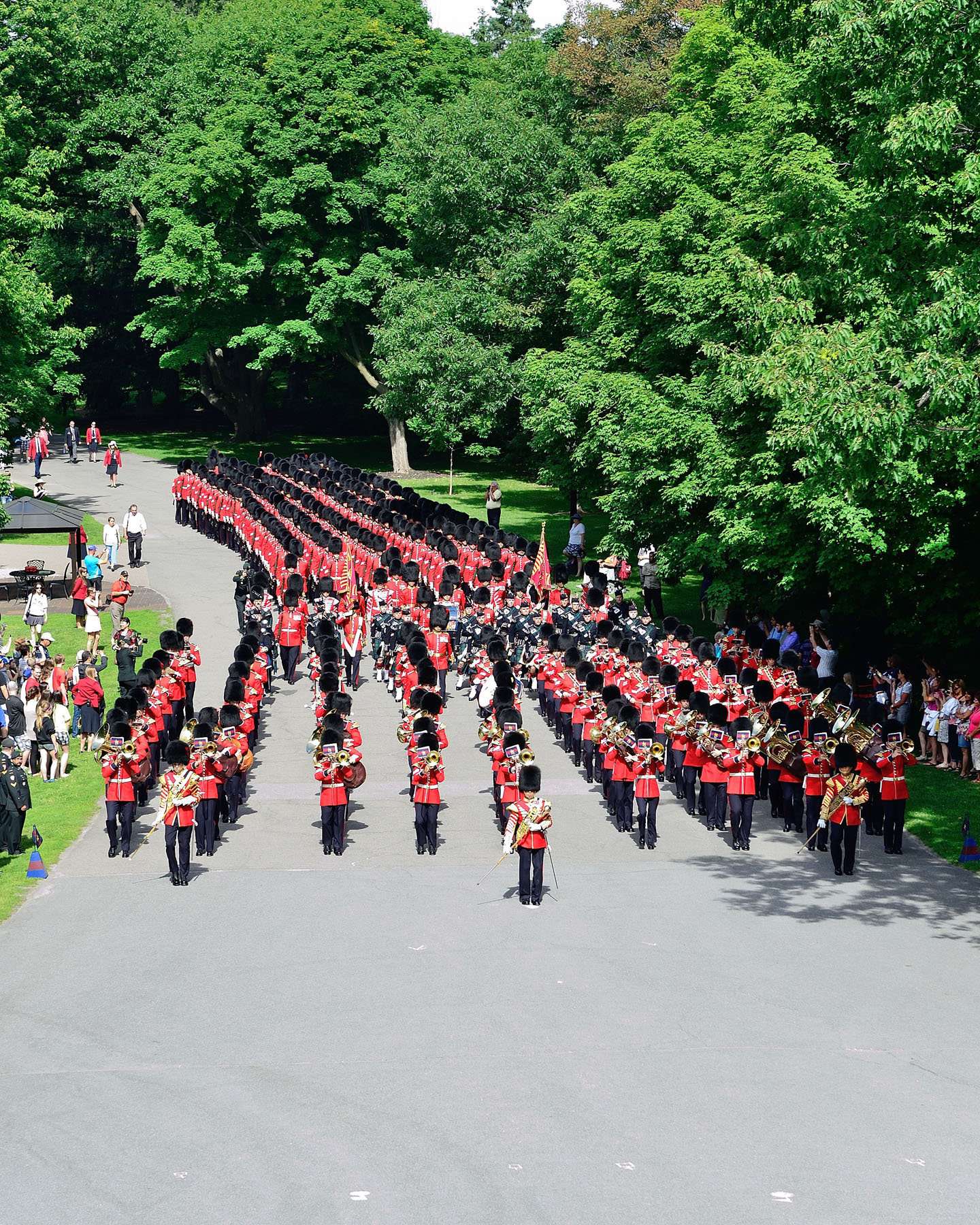 His Excellency the Right Honourable David Johnston, Governor General and Commander-in-Chief of Canada, invited the public to join him for the annual Inspection of the Ceremonial Guard  on the grounds of Rideau Hall.