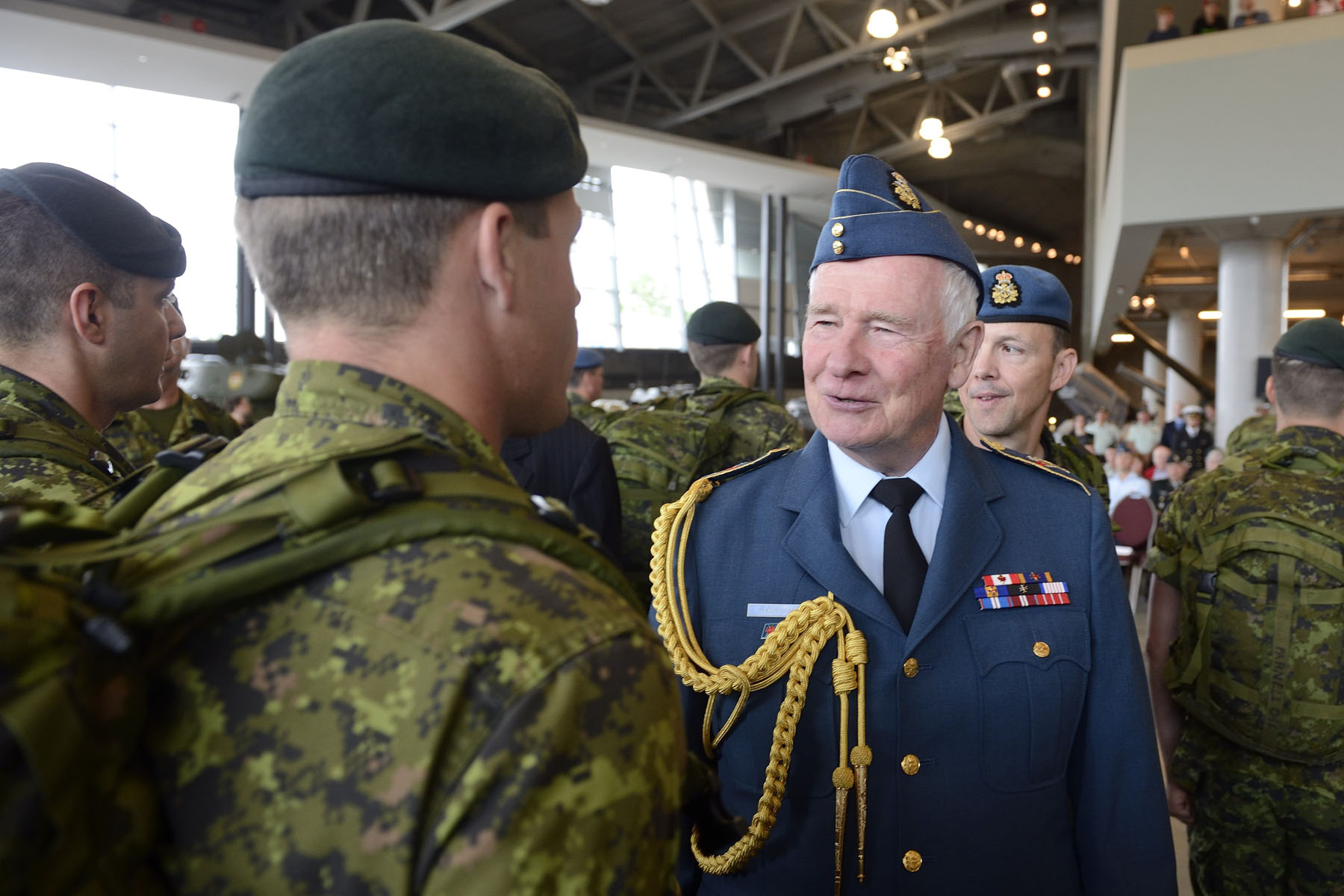 The Governor General and Commander-in-Chief of Canada reviewed a departure parade of Canadian Armed Forces (CAF) members participating in the Nijmegen Marches, at the Canadian War Museum.