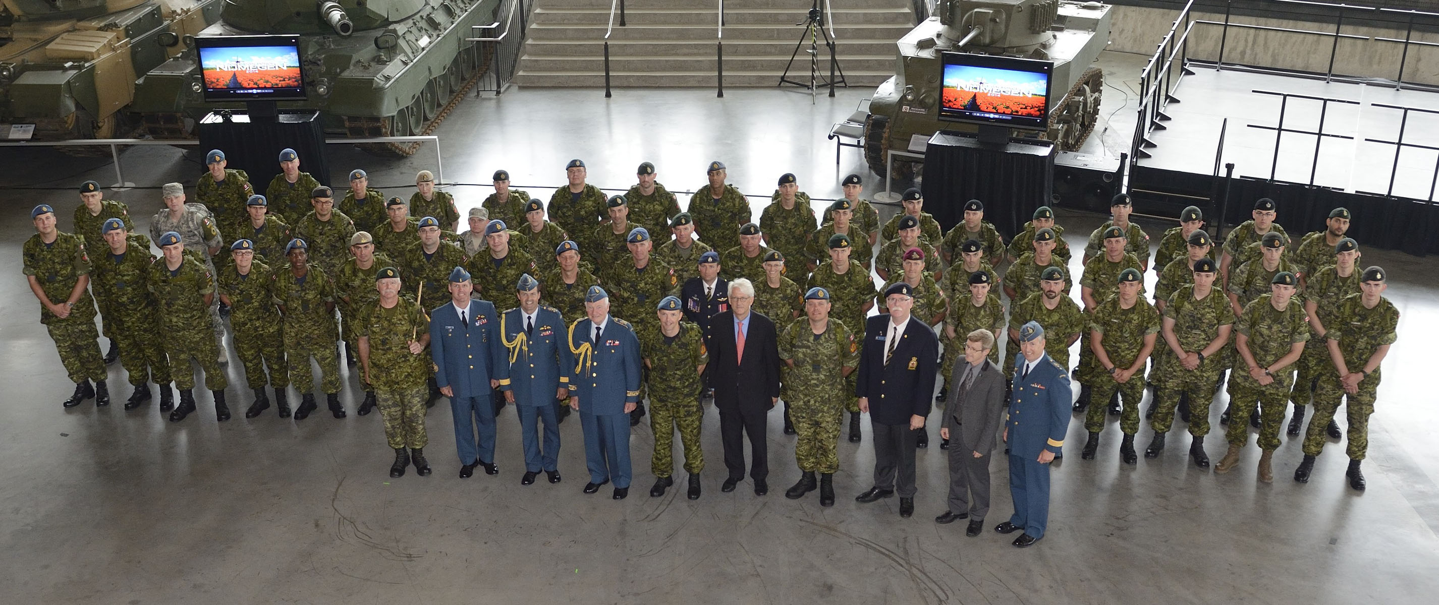 Group photo with His Excellency, dignitaries in attendance and members of the CAF contingent.