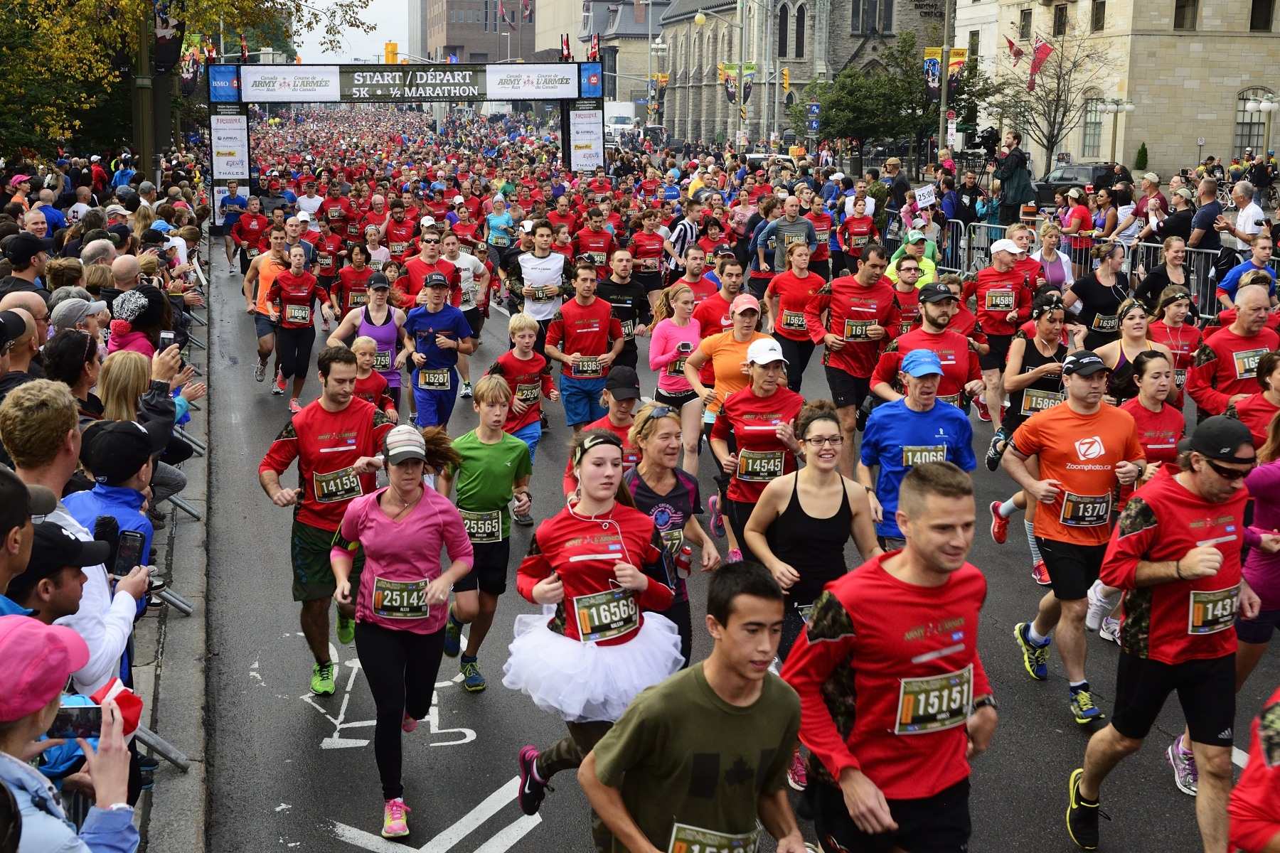 Canada Army Run is a unique running event in which Canadians can run, walk or roll side-by-side with members of the Canadian Armed Forces in half-marathon and five-kilometre events. Fundraising efforts and proceeds benefit Soldier On and the Military Families Fund.