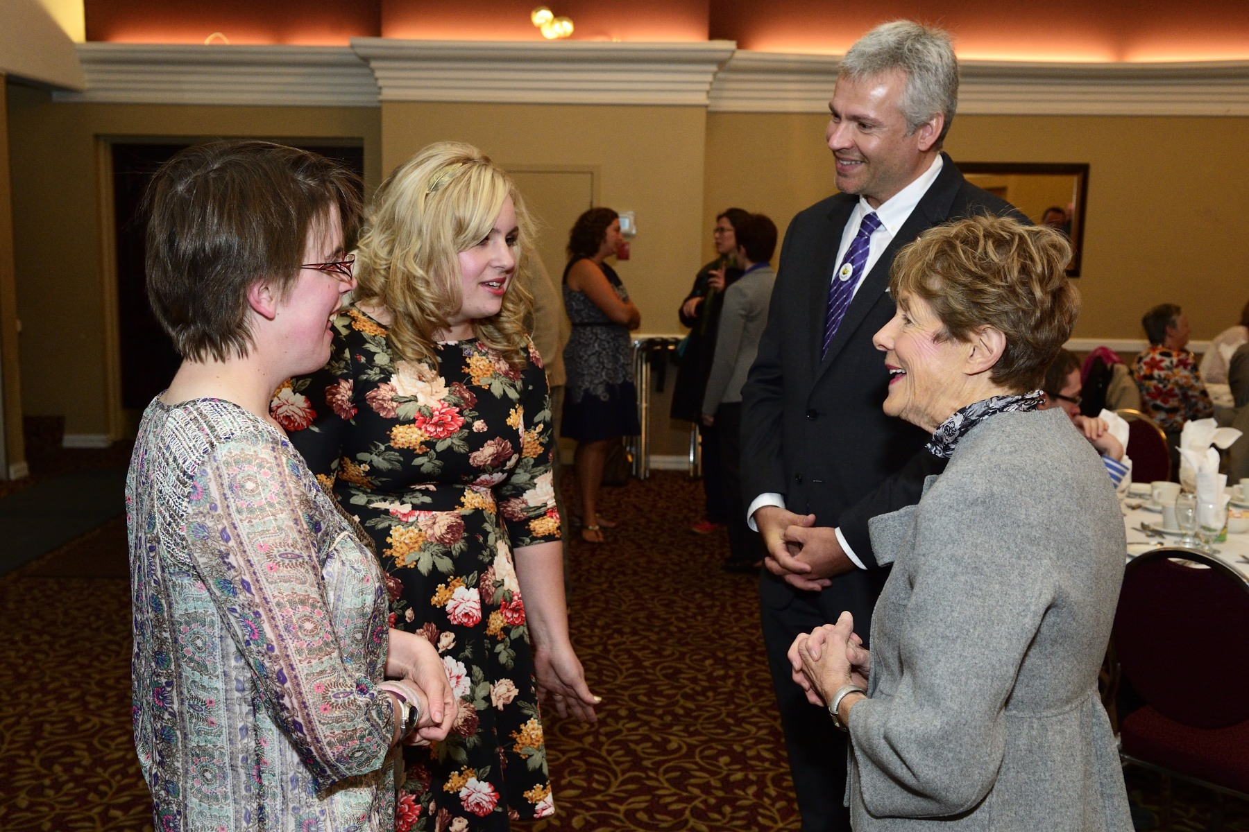 Her Excellency had the chance to talk with recipients of the Caring Canadian Award. All recipients  were linked to LiveWorkPlay, an Ottawa-based charitable organization that helps the community welcome people with intellectual disabilities to live, work and play as valued citizens.
