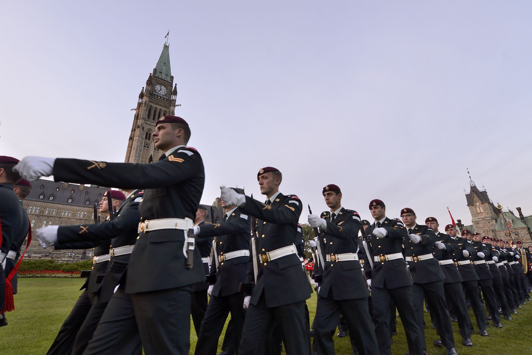 Close to 200 soldiers from the PPCLI and the R22eR performed a military parade.