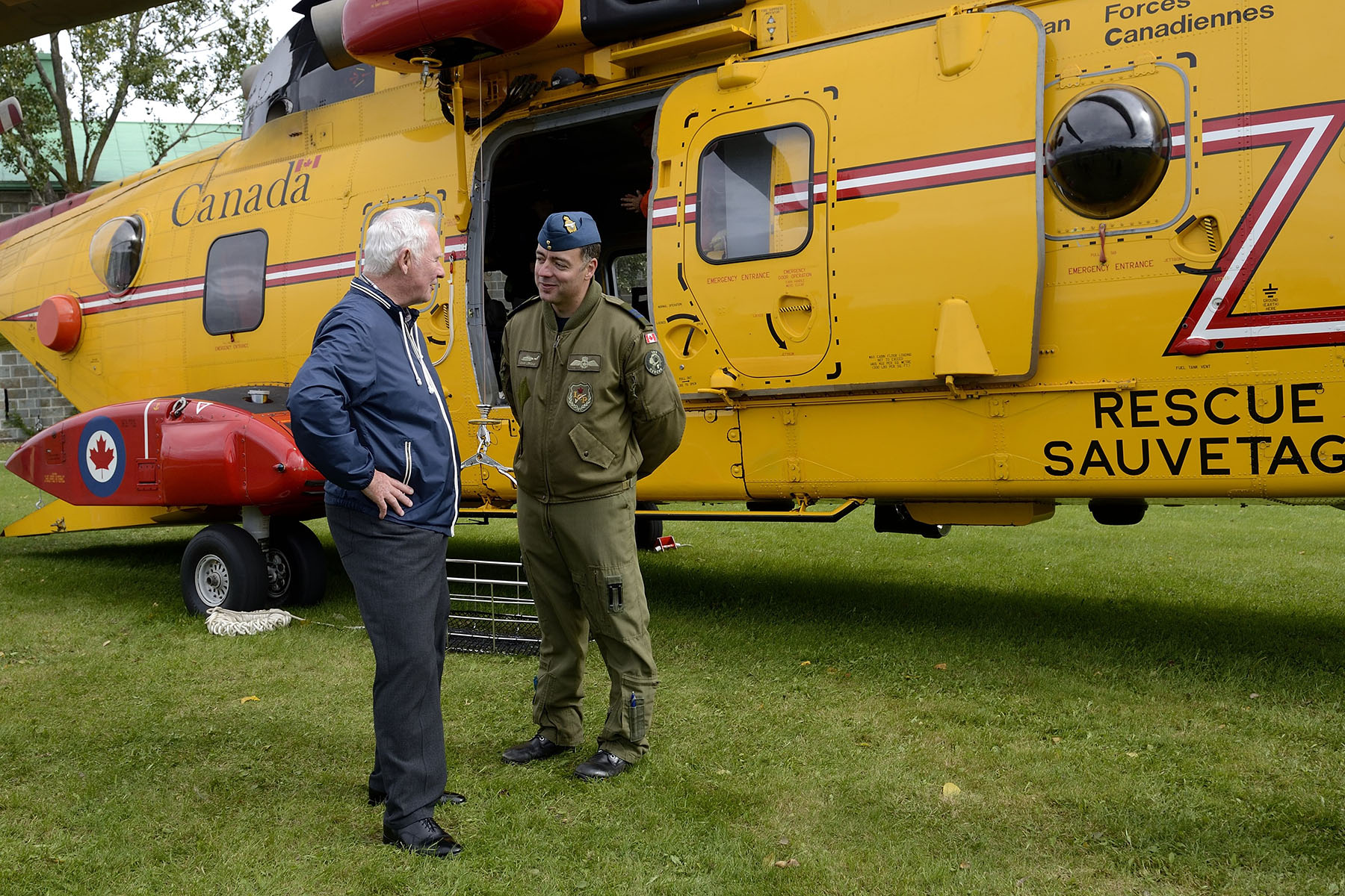 Static helicopters, including a Search and Rescue Aircraft (CH-149 Cormorant), were on display.