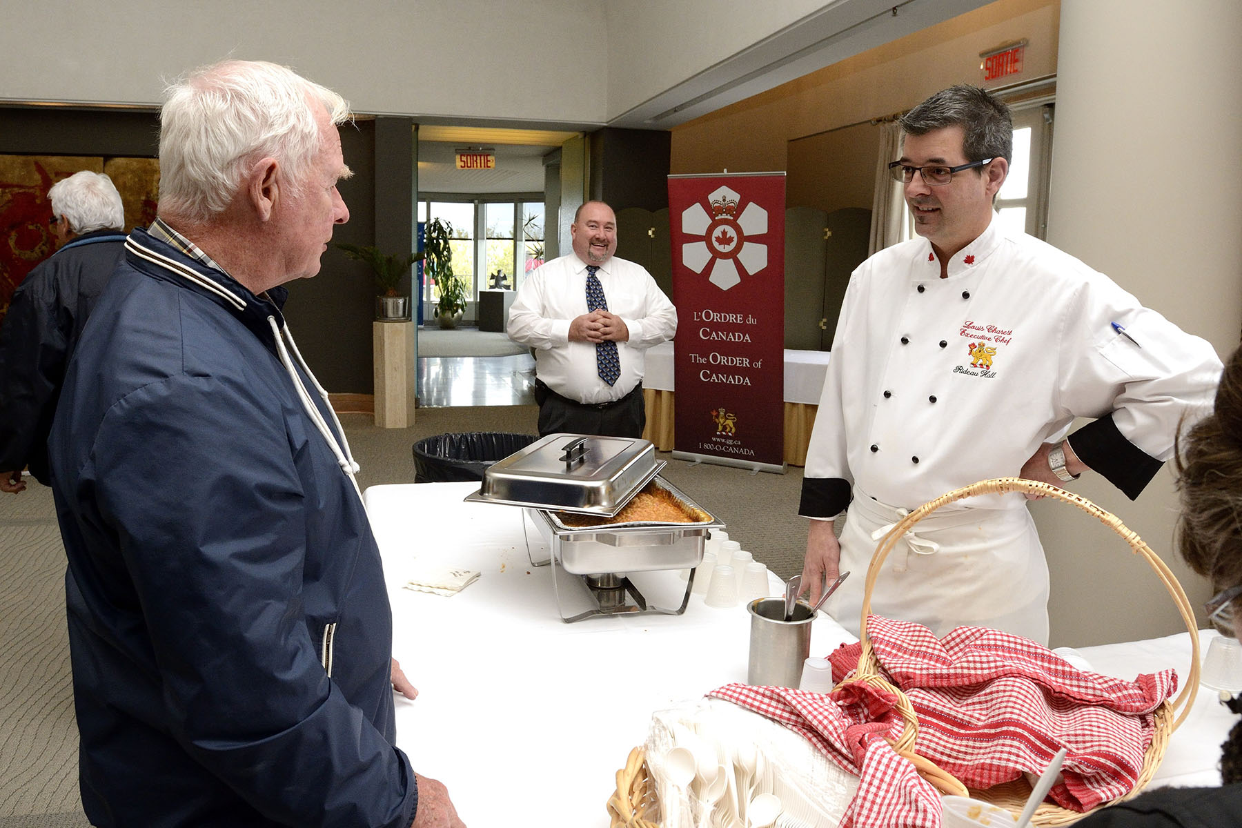 Inside the Governor General's Residence, visitors were able to taste old-fashioned baked beans made by the official residence chefs using an ancient recipe.