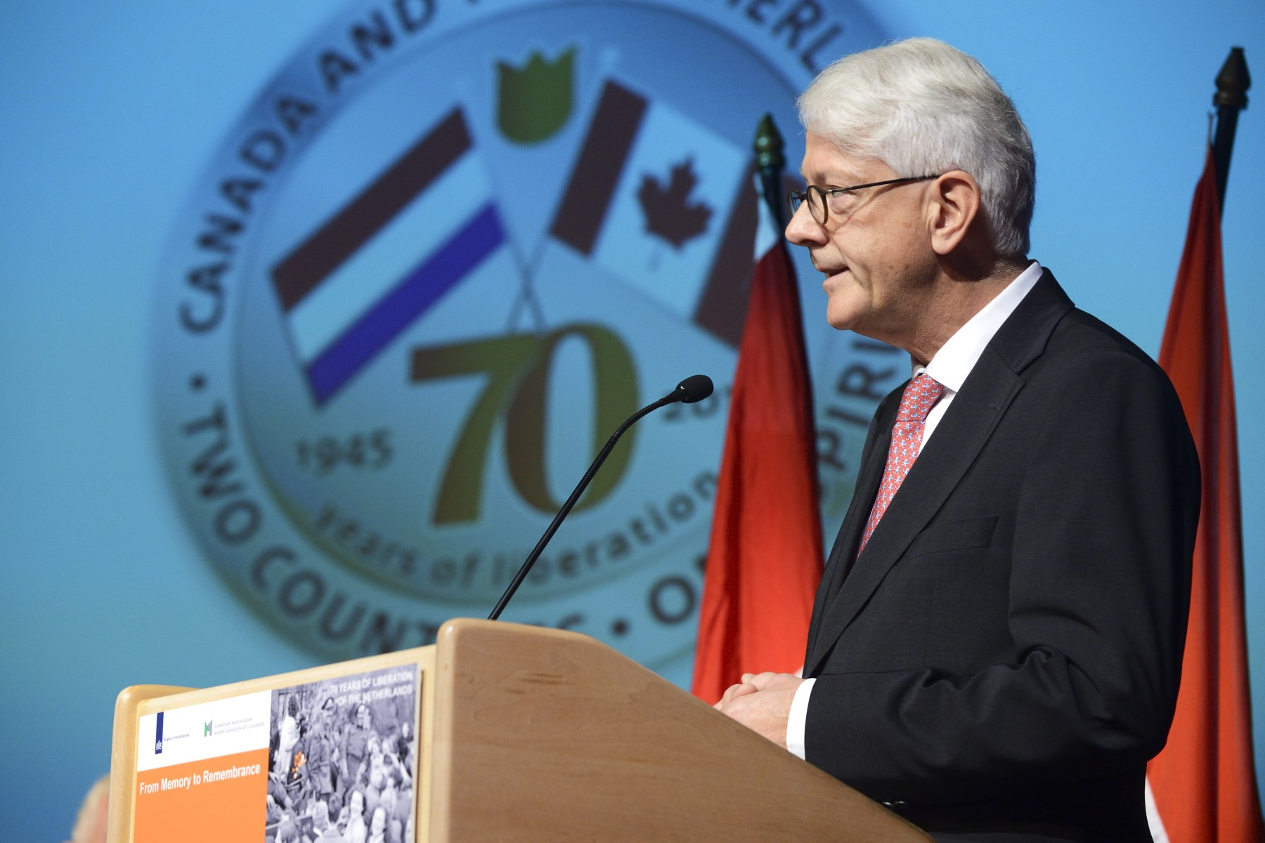 The first seminar of the From Memory to Remembrance lecture series took place at the Canadian War Museum, on October 16, 2014. On this occasion, His Excellency Cees Kole, Ambassador of the Kingdom of the Netherlands, delivered remarks.