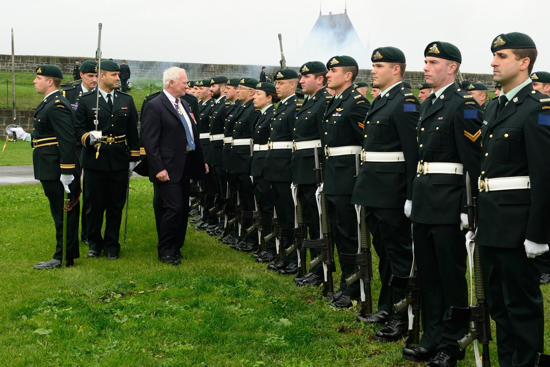 The Governor General took part in the unveiling of a statue in memory of General the Right Honourable Georges P. Vanier during a ceremony at the Citadelle of Québec.