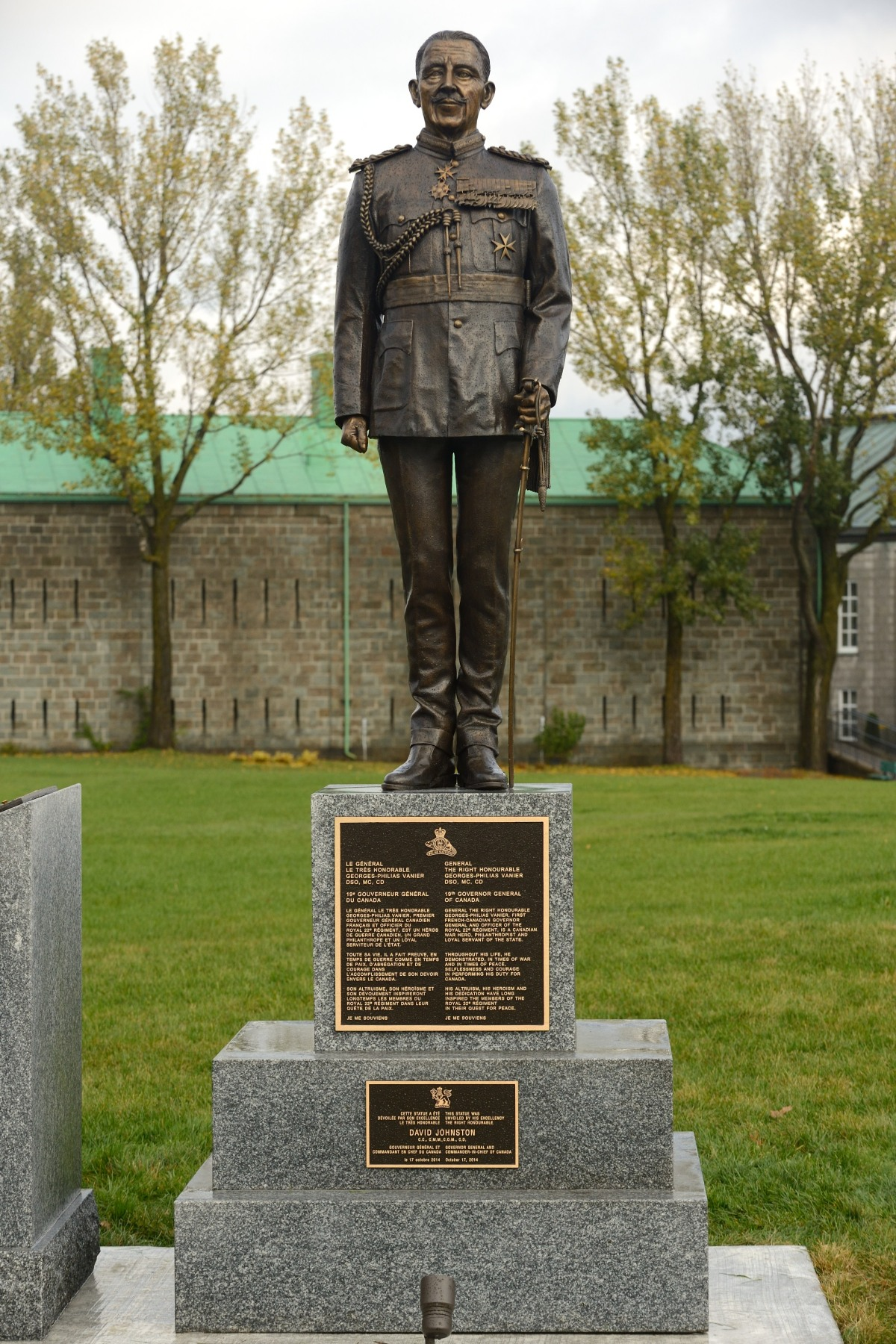 The first French-Canadian governor general (1959–1967) and an officer of the R22eR, General Vanier served Canada his entire life through his military and public service careers.