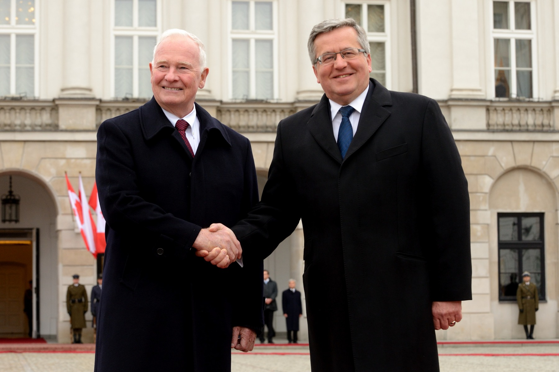 During his State visit to Poland, the Governor General will take part in discussions with political and business leaders to reinforce Canada's reputation as a strong and reliable partner. He will also lay wreaths at important cemeteries and memorials to acknowledge Canada's role in many key historic events being commemorated this year, notably the 70th anniversary of the battles of Monte Cassino and Normandy, the 70th anniversary of the Warsaw Uprising and the 75th anniversary of the beginning of World War II, as well as the 15th anniversary of Poland's membership in NATO.
