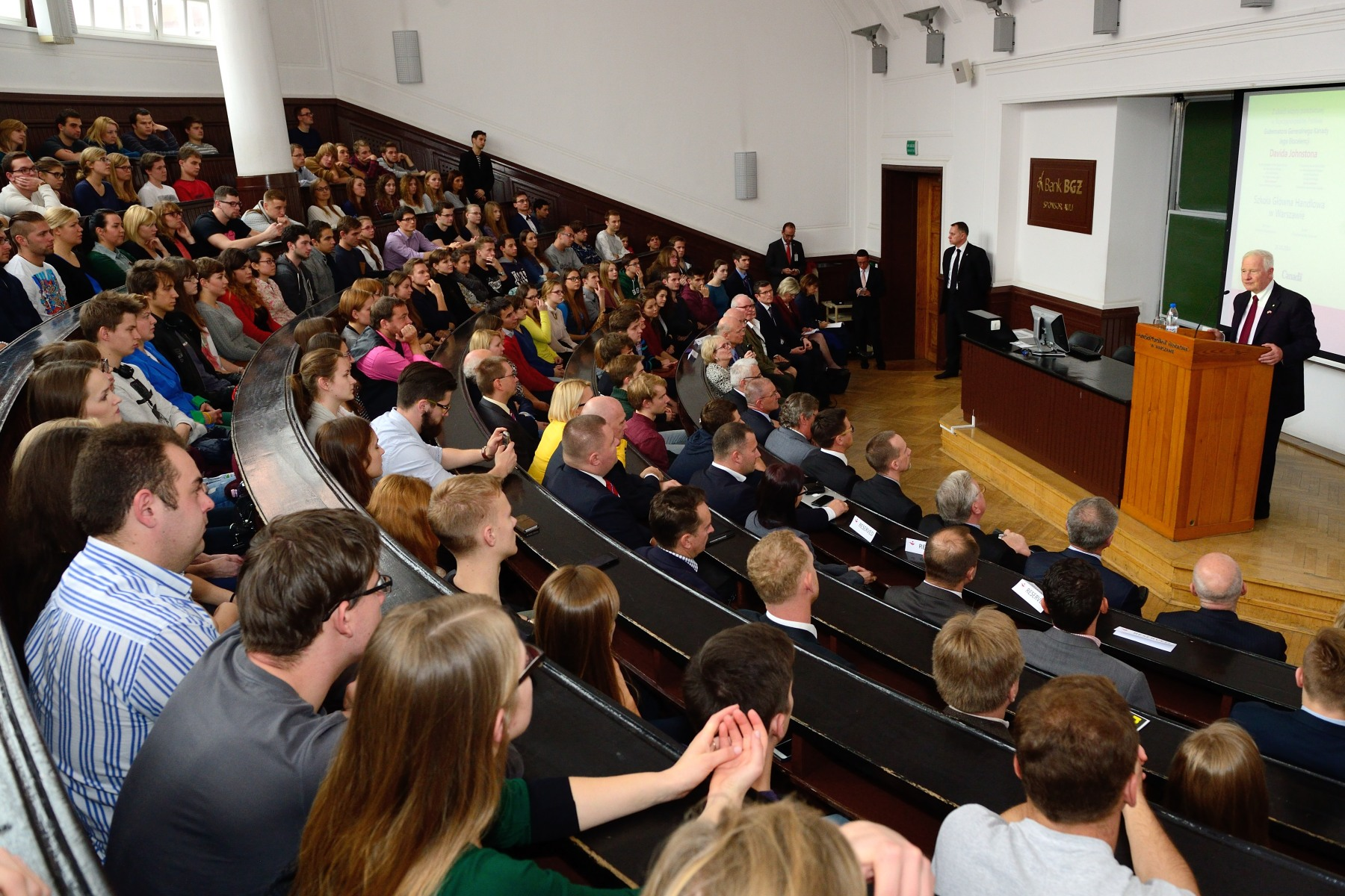 The Governor General then proceeded to Warsaw School of Economics to deliver a keynote address on the potential for greater collaboration between Canada and Poland in the spheres of education and innovation, and to encourage students to consider Canada as a study and research destination.