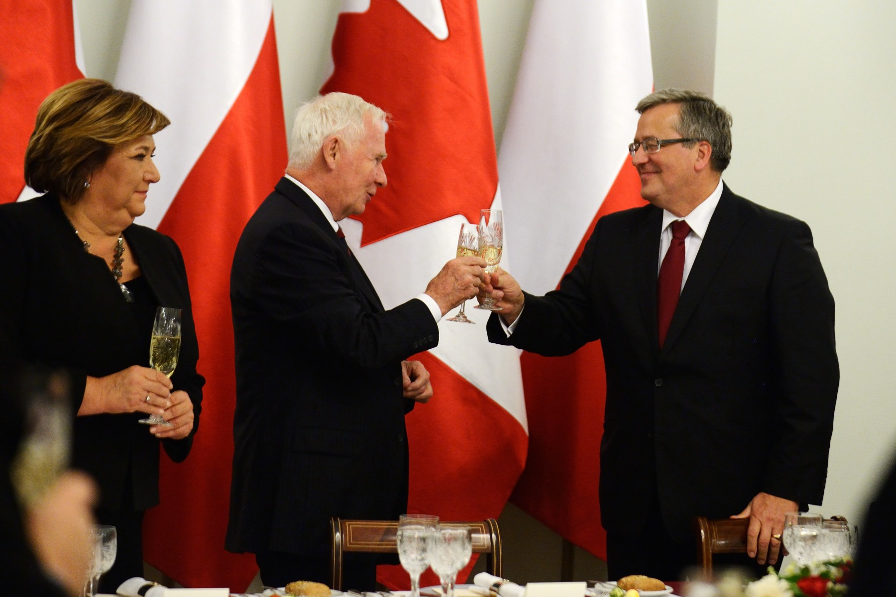 """I would now like to raise my glass to Poland and Canada's continued friendship,"" said His Excellency."