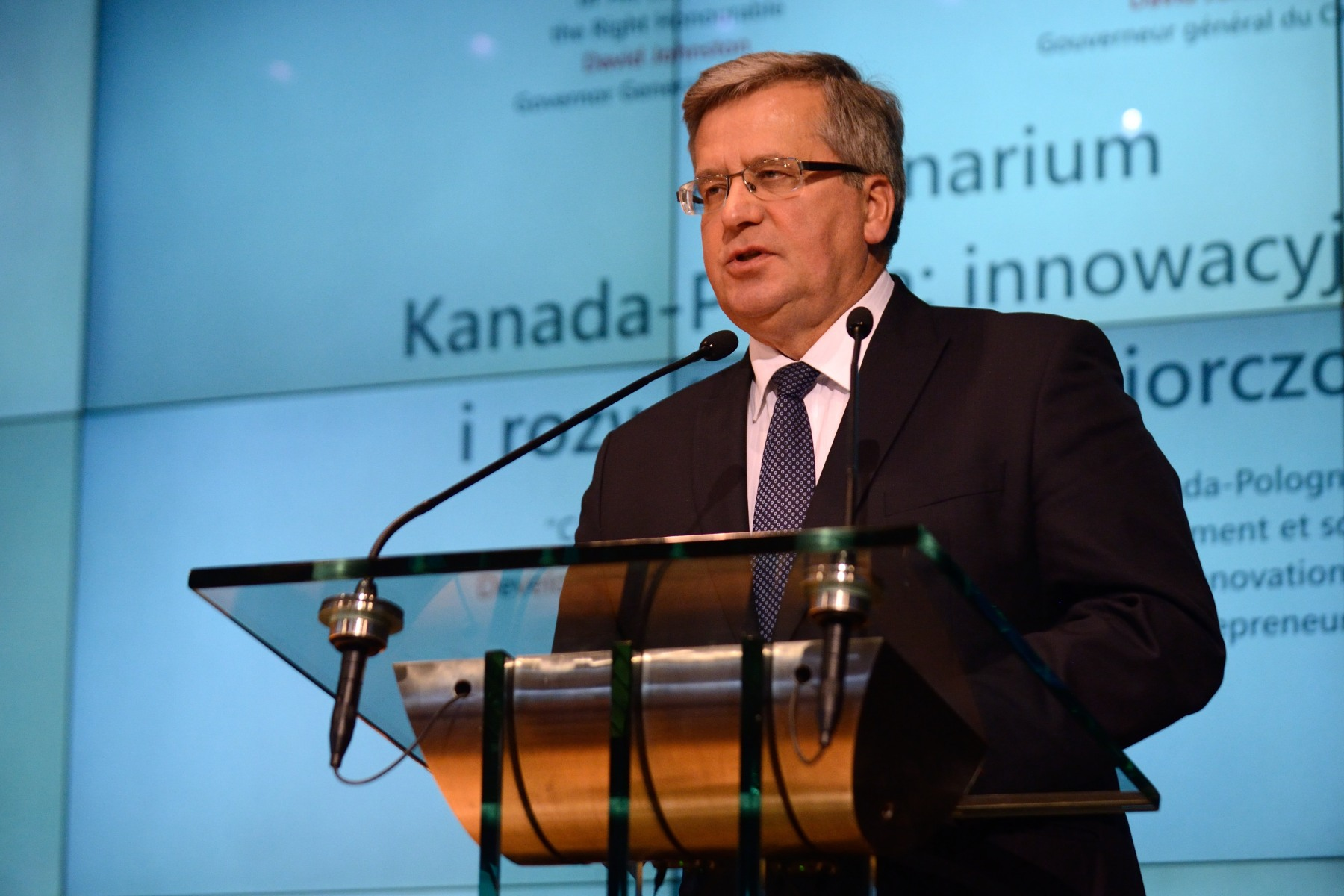 President Komorowski delivered a speech on this occasion.