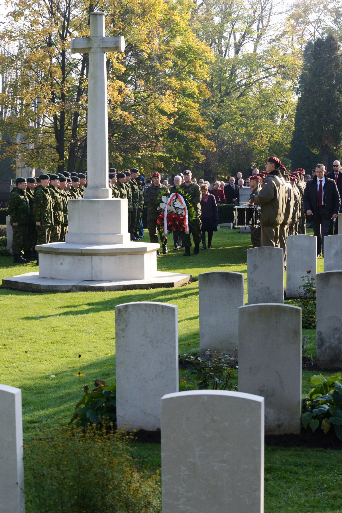 The ceremony honoured fallen soldiers of WWII, including Canadian soldiers and pilots.