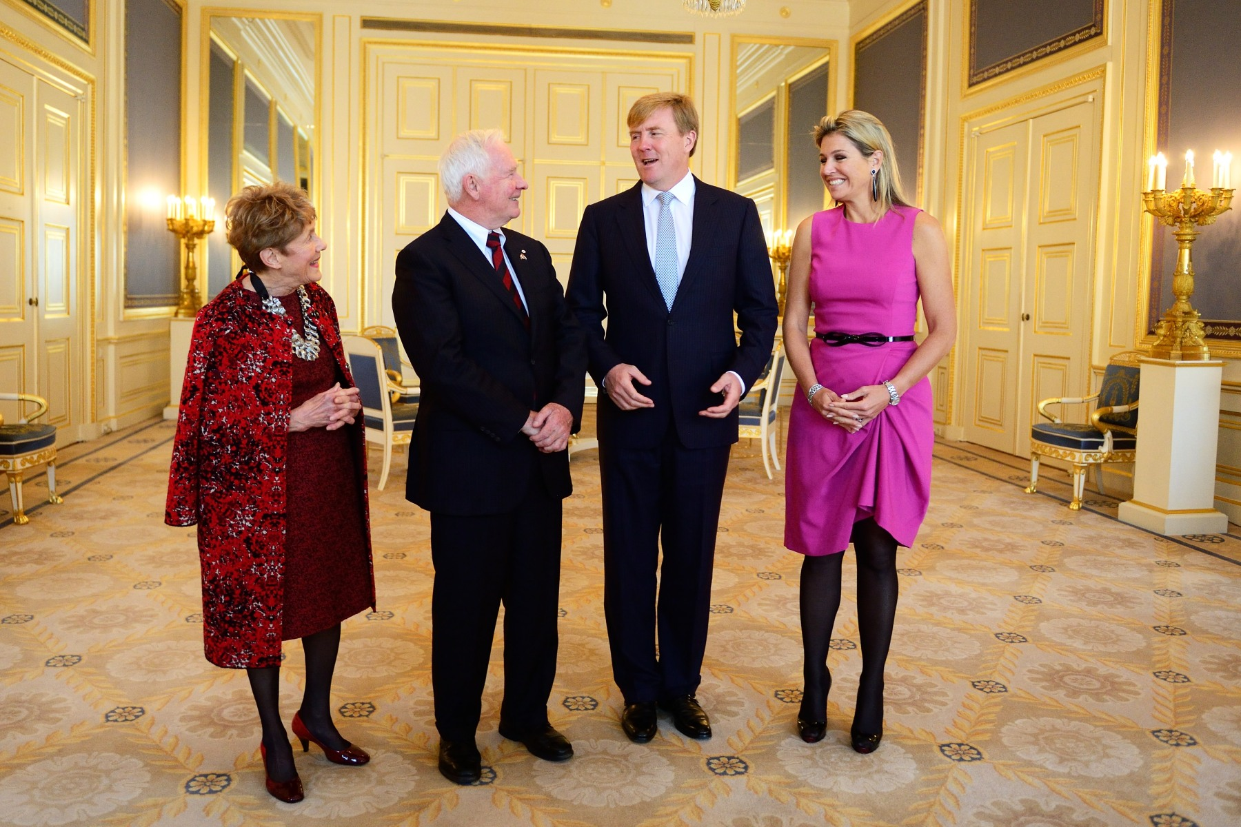 Their Excellencies then had an audience with His Majesty King Willem-Alexander and Her Majesty Queen Máxima of The Netherlands at Noordeinde Palace.